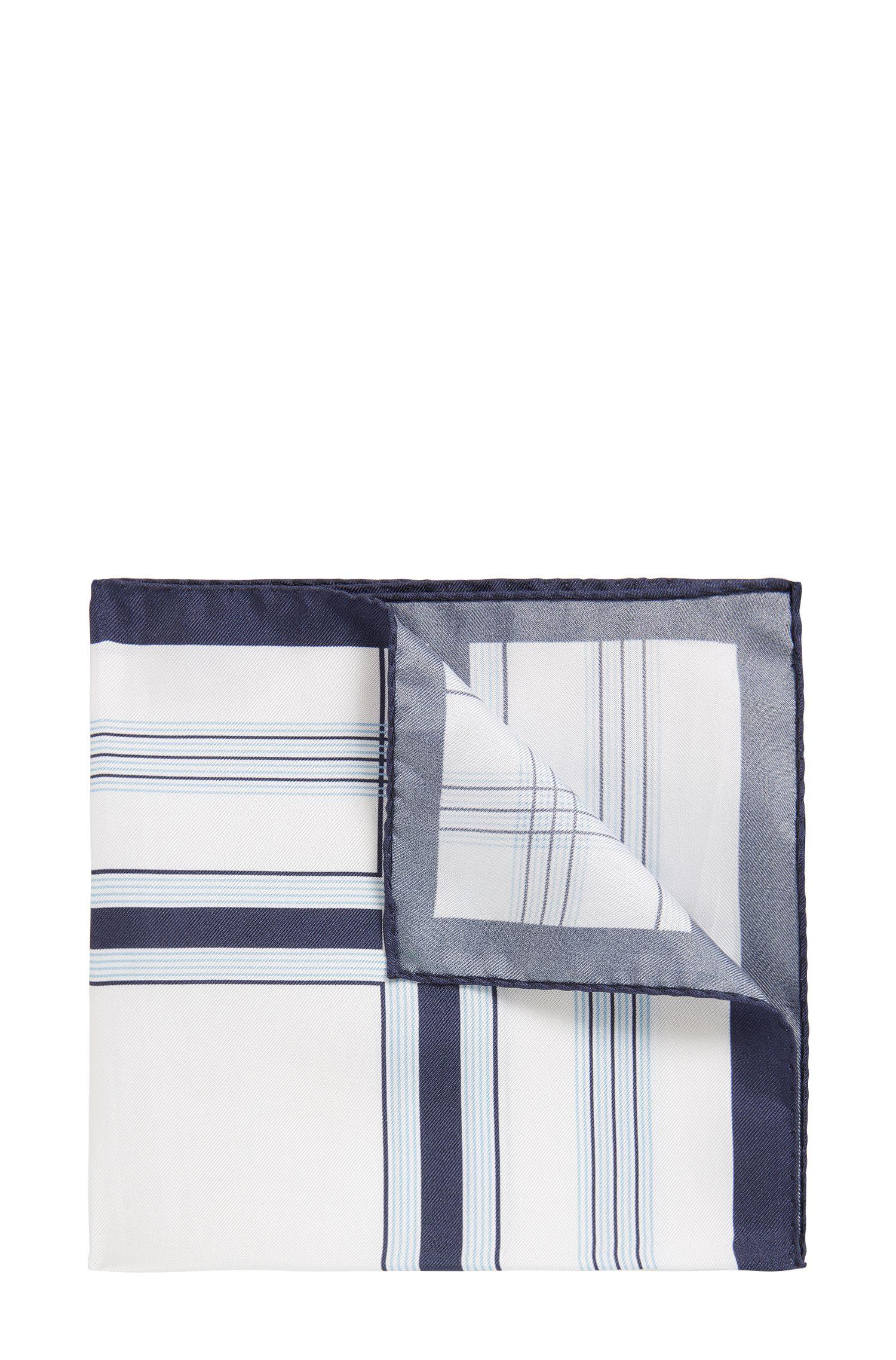 Pochette da taschino a quadri in pura seta