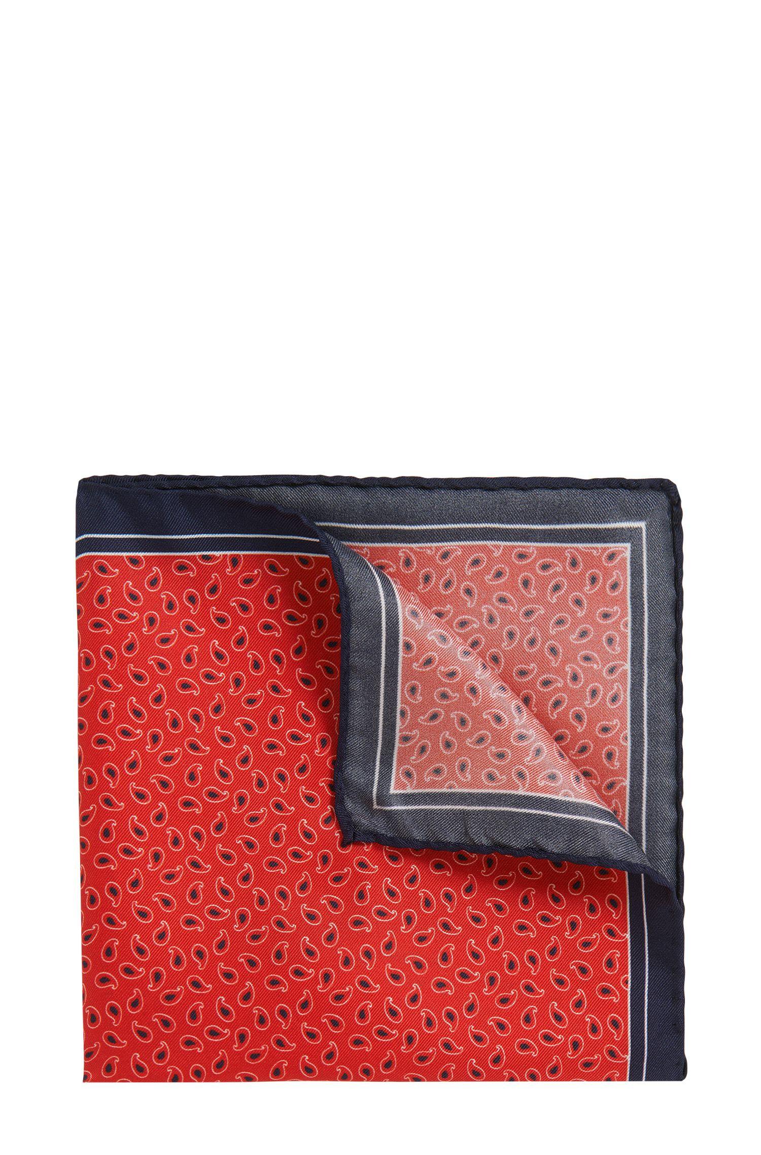 Pañuelo de bolsillo microestampado en seda