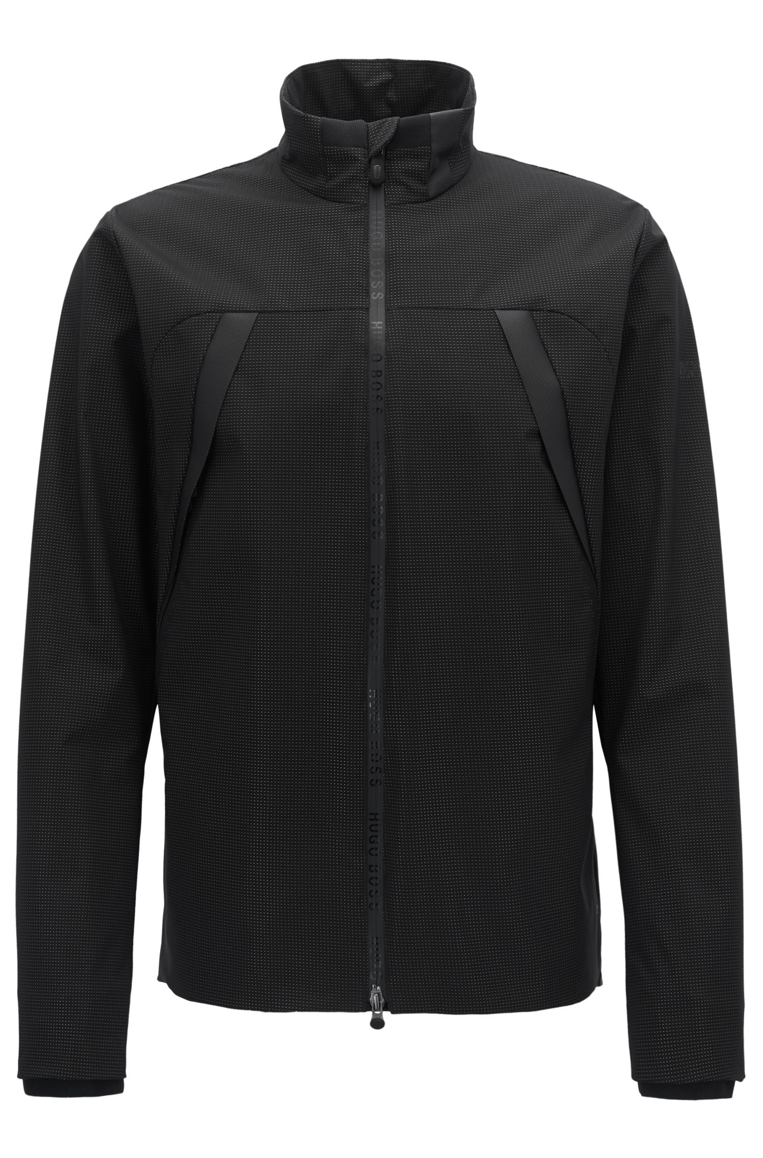 Performance jacket in water-repellent technical fabric