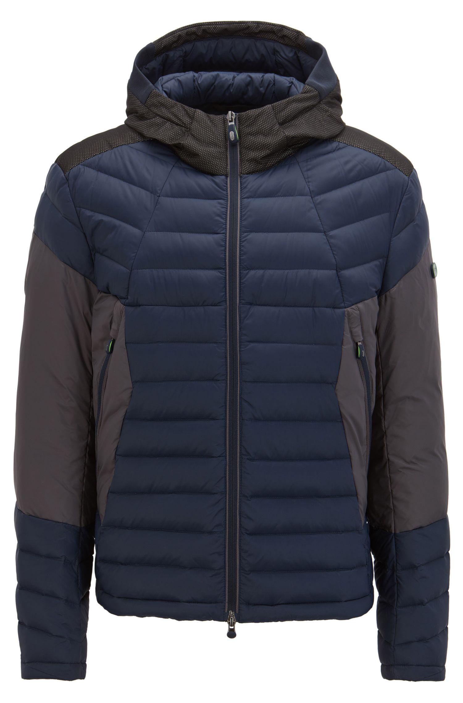 Down-filled jacket with electromagnetic-wave blocker