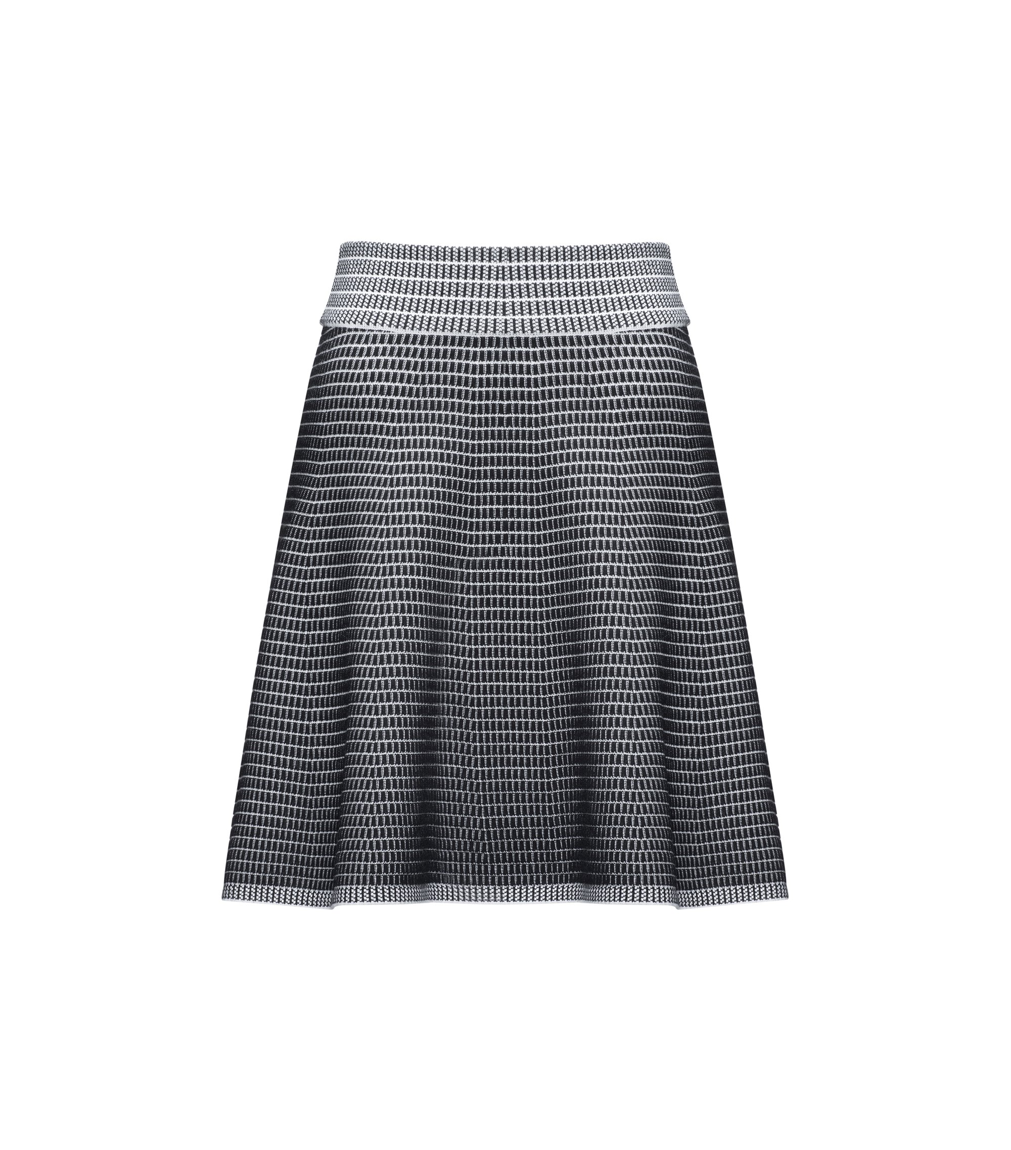A-line skirt in super-stretch fabric, Patterned