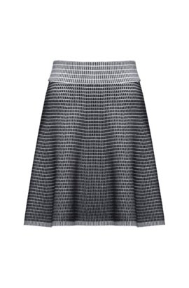 A-line skirt in lustrous stretch fabric HUGO BOSS Sale Original Discount Official Buy Cheap 2018 New fASpy