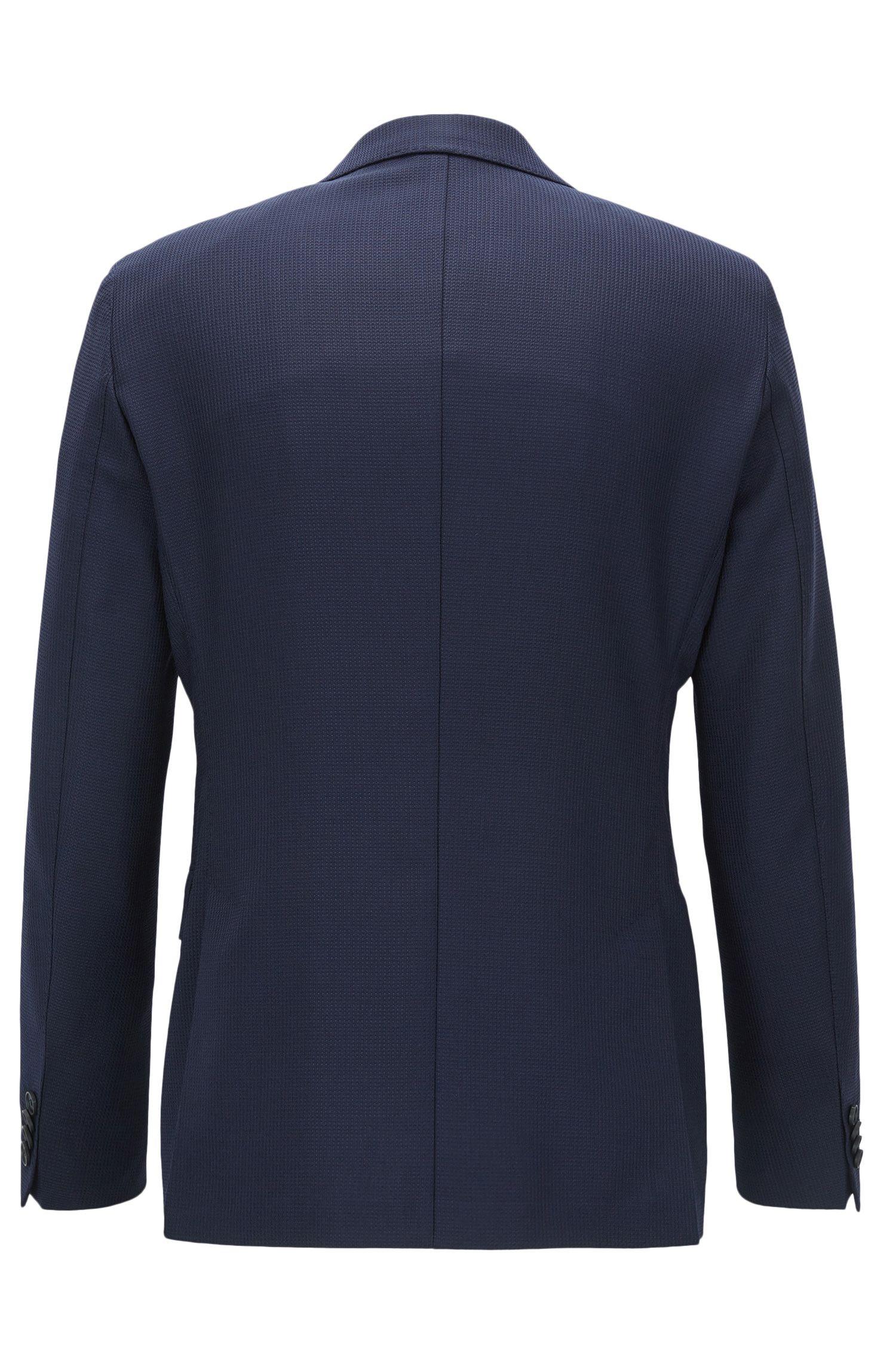 Extra slim-fit blazer van garengeverfde scheerwol