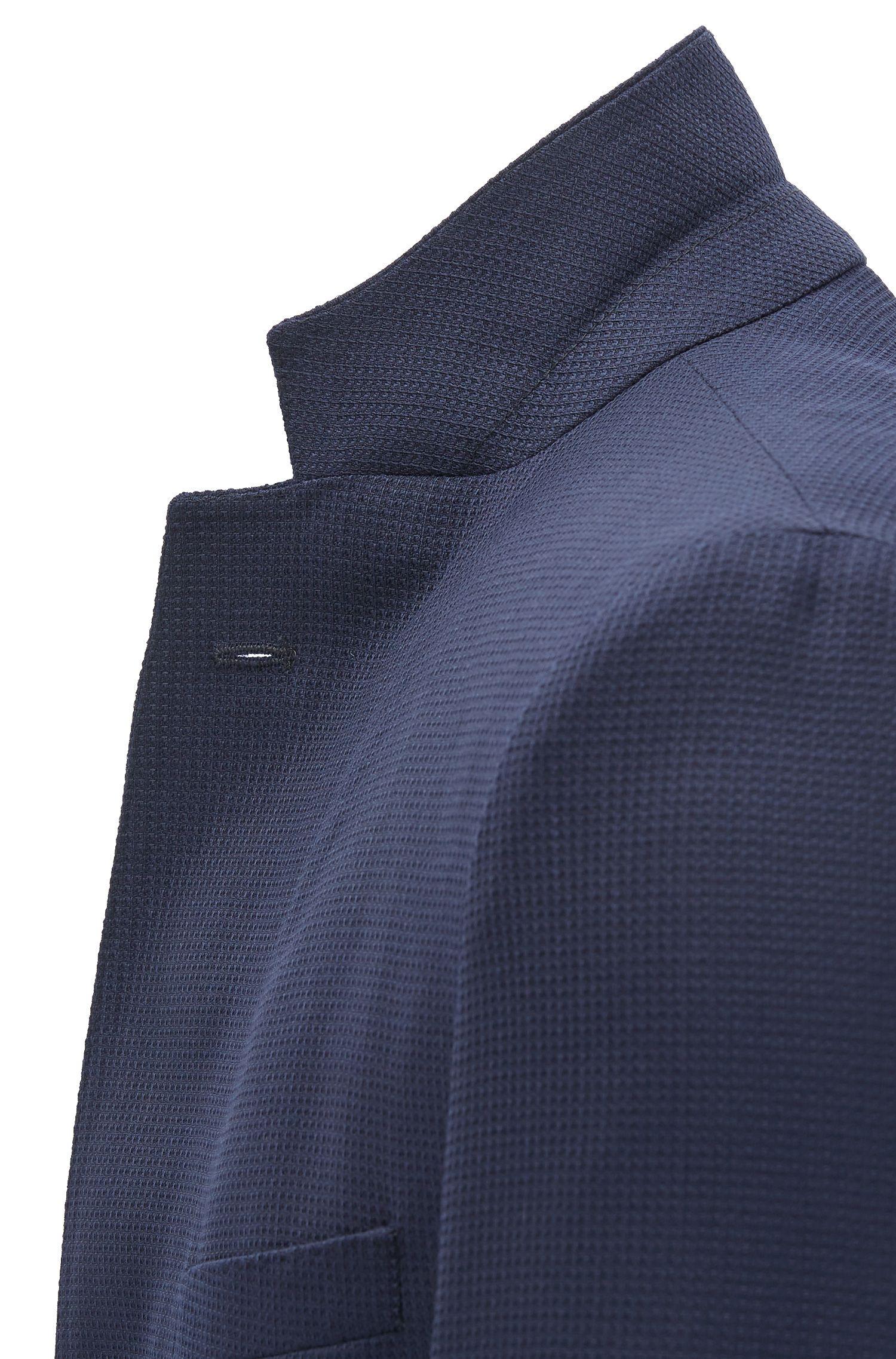 Extra Slim-Fit Sakko aus garngefärbter Schurwolle