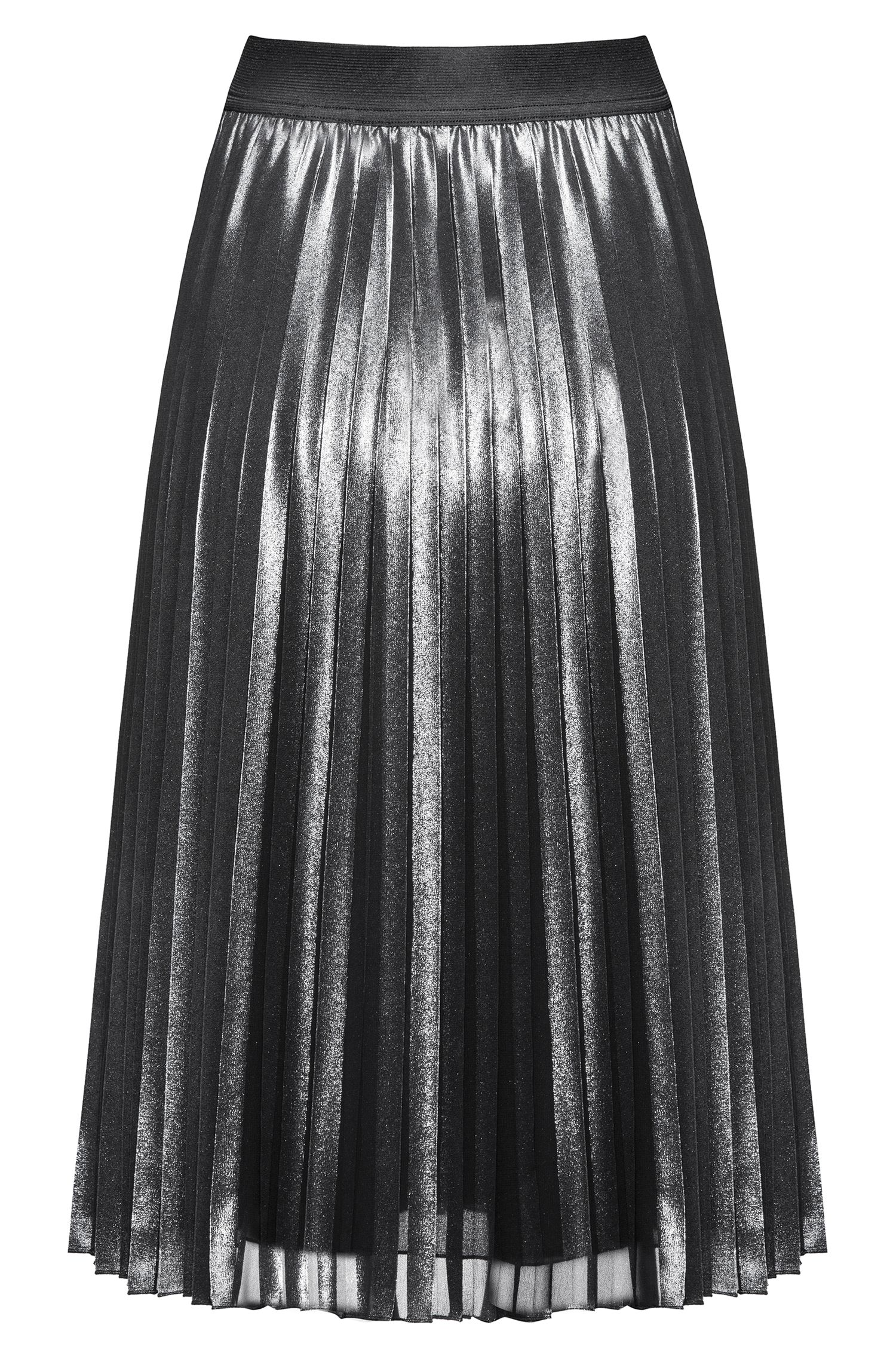 Knielange rok met plissédetail