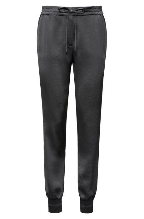 Relaxed-fit drawstring trousers in hammered crêpe HUGO BOSS 53u95feur