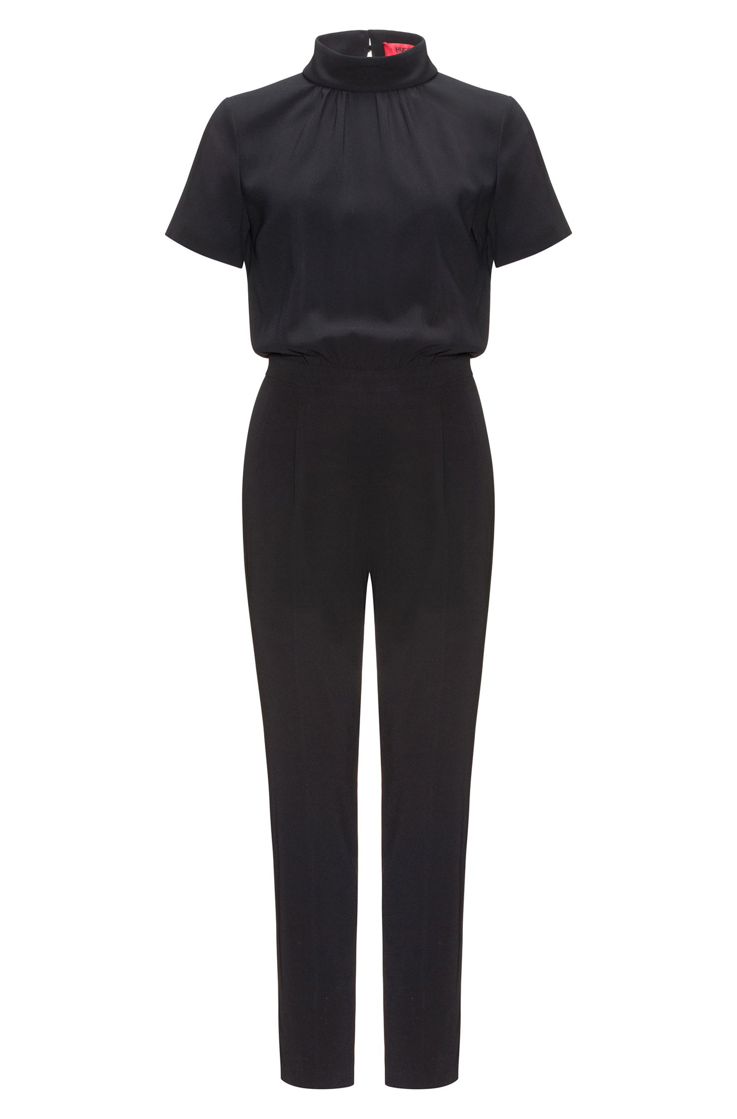 Crêpe jumpsuit met cut-out detail