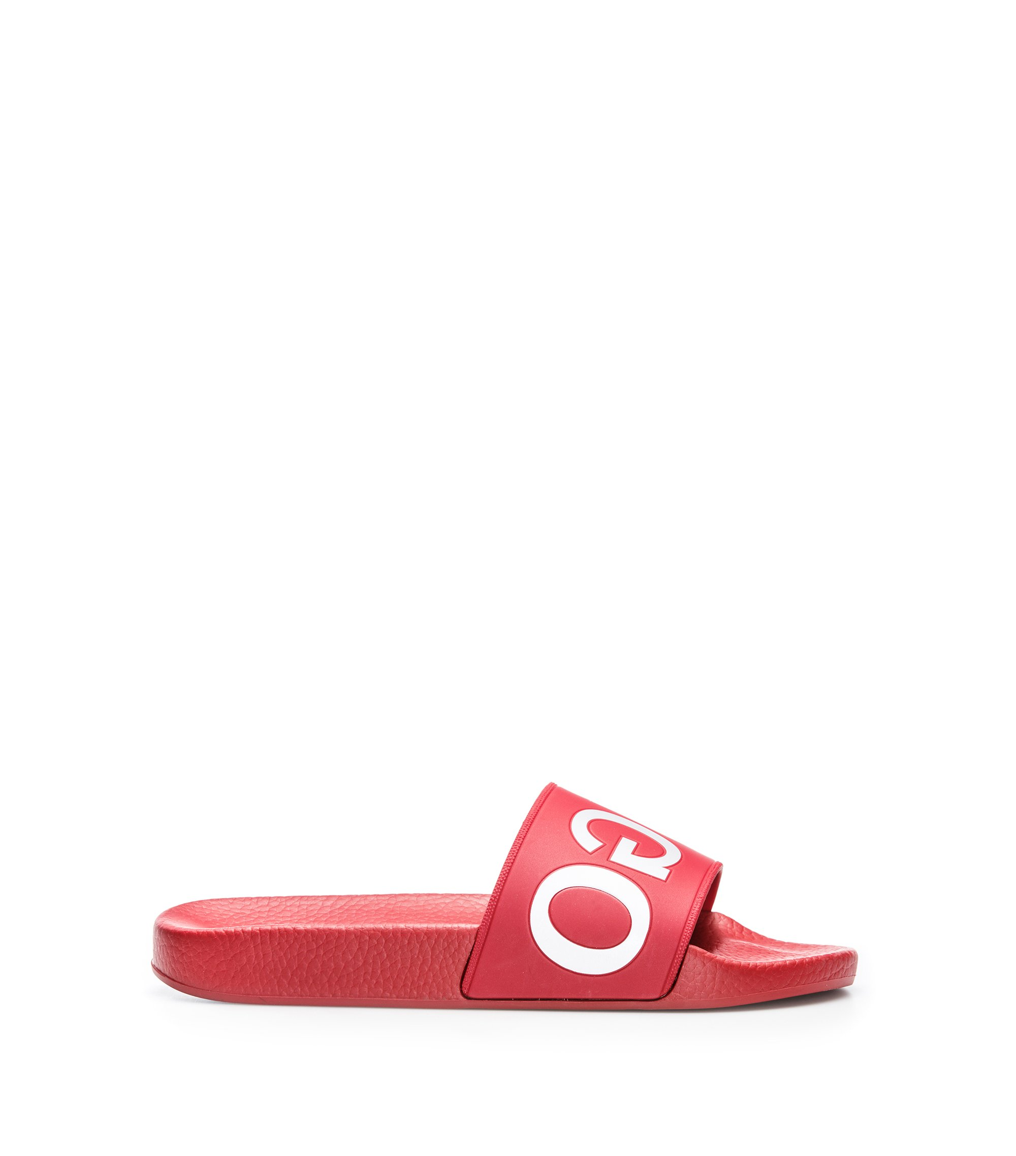 Pool sliders with reverse logo, Red