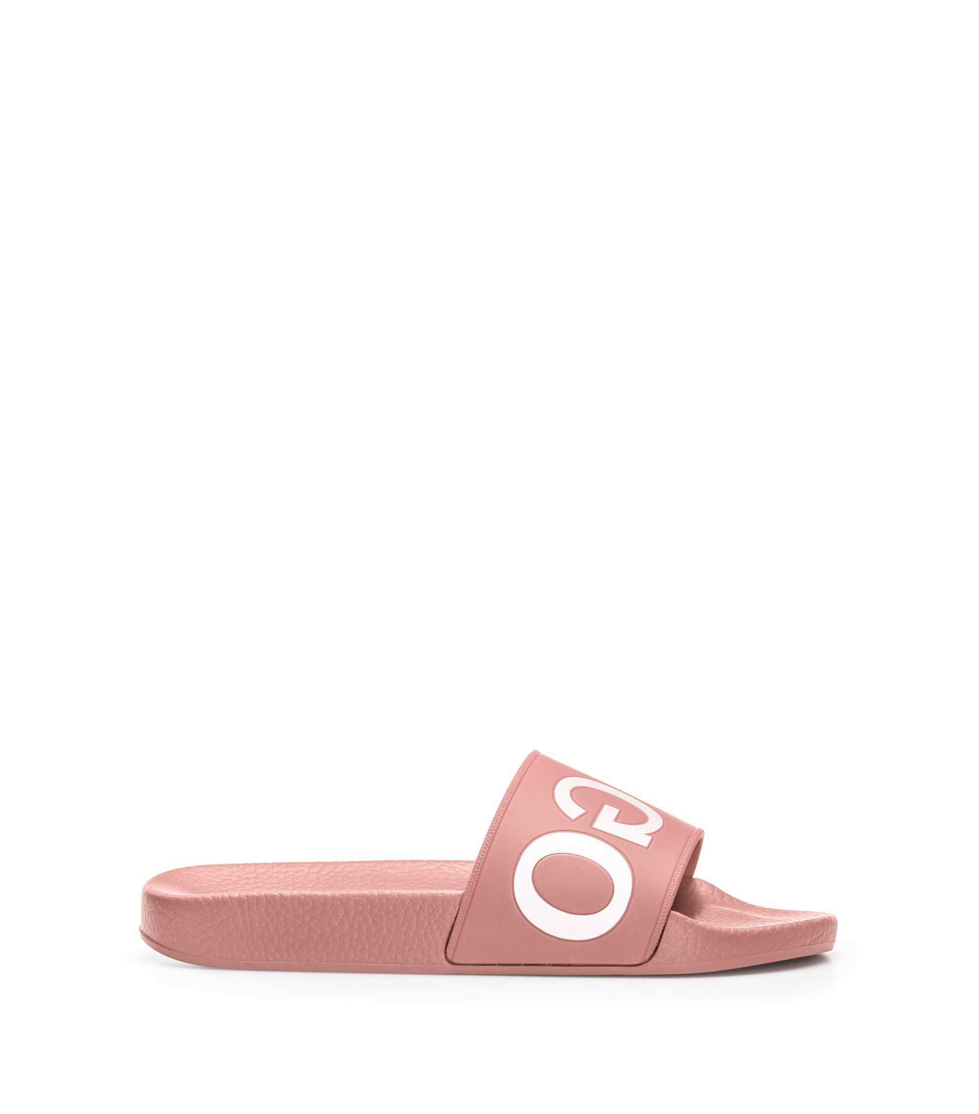 Pool sliders with reverse logo, Dark pink