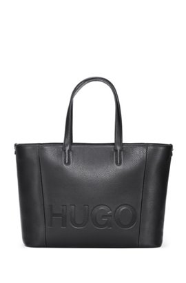 Tote Bag In Grained Italian Leather Black