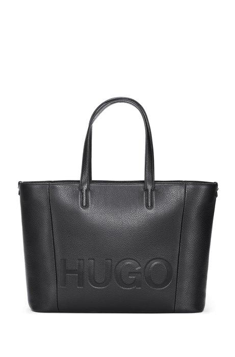 Logo Leather Shopper Bag - Black HUGO BOSS oE87uE