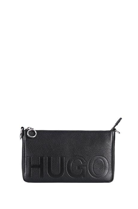 Embossed logo mini bag in Italian leather HUGO BOSS WfgRf1Dy