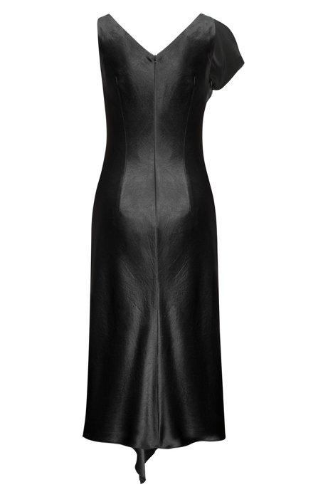 Sleeveless mid-length dress with waterfall front HUGO BOSS Kz9JJmlUx