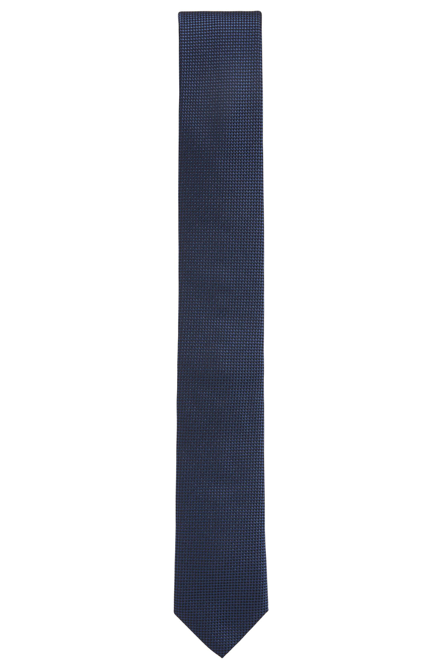 Tie in pure silk jacquard with micro pattern HUGO BOSS