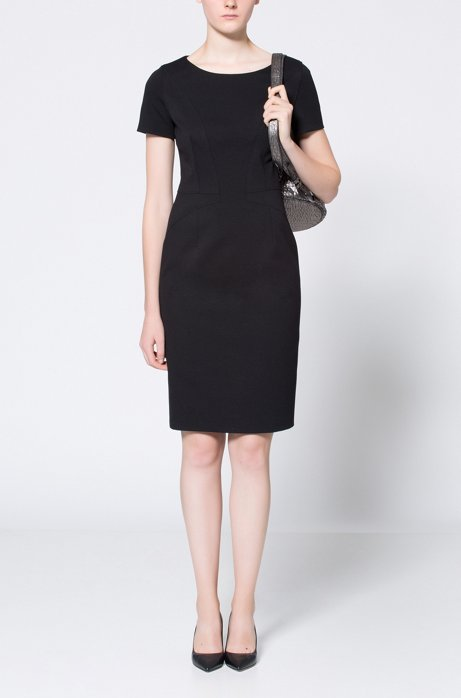 Official Site Sale Online Cheap Low Cost Pencil dress in panelled stretch jersey HUGO BOSS 0FNAH4MGf5