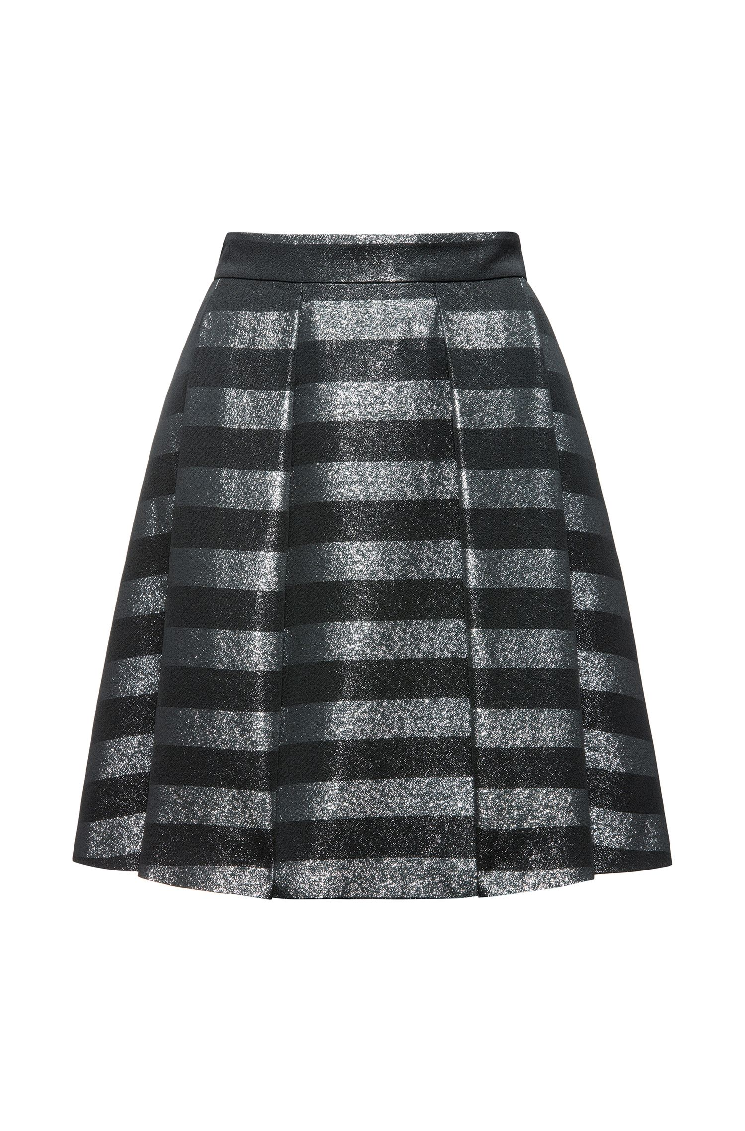 A-line skirt in striped fabric
