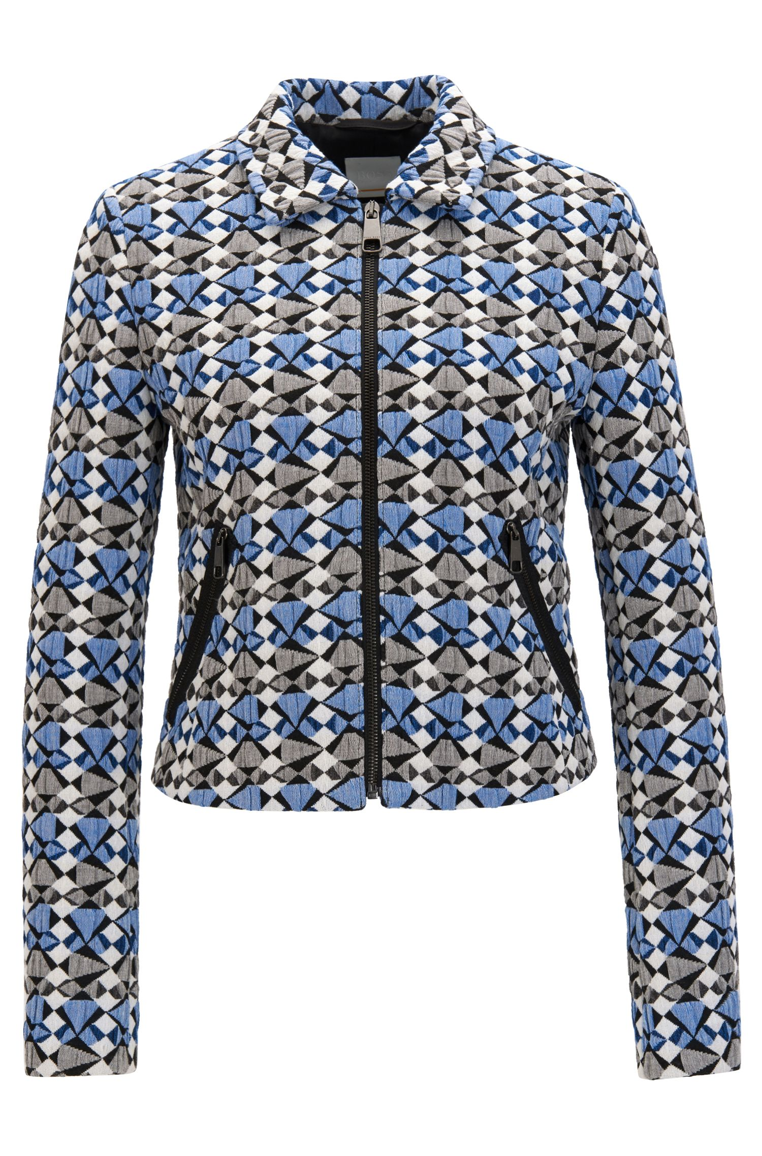 Veste Regular Fit en jacquard stretch multicolore