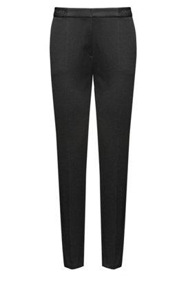 Pantalon raccourci en coton mélangé210.00BOSS Boutique Vente En Ligne Feuilleter qxCRKmuI