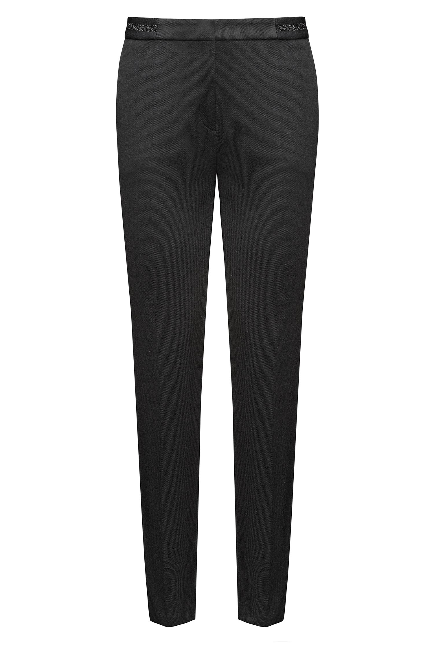 Slim-fit trousers in a cotton blend