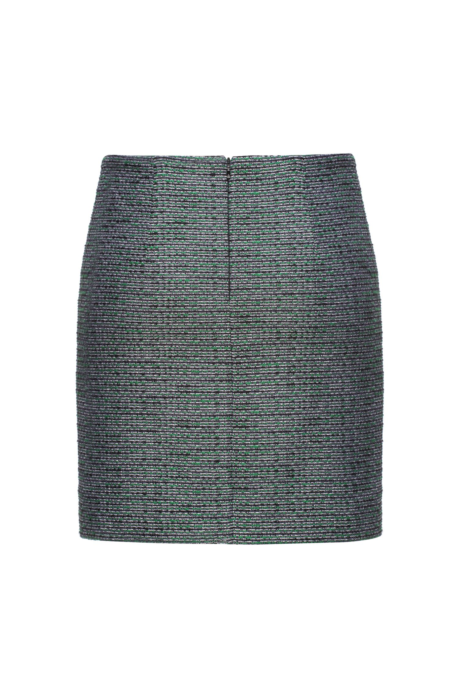 Patterned lurex mini skirt