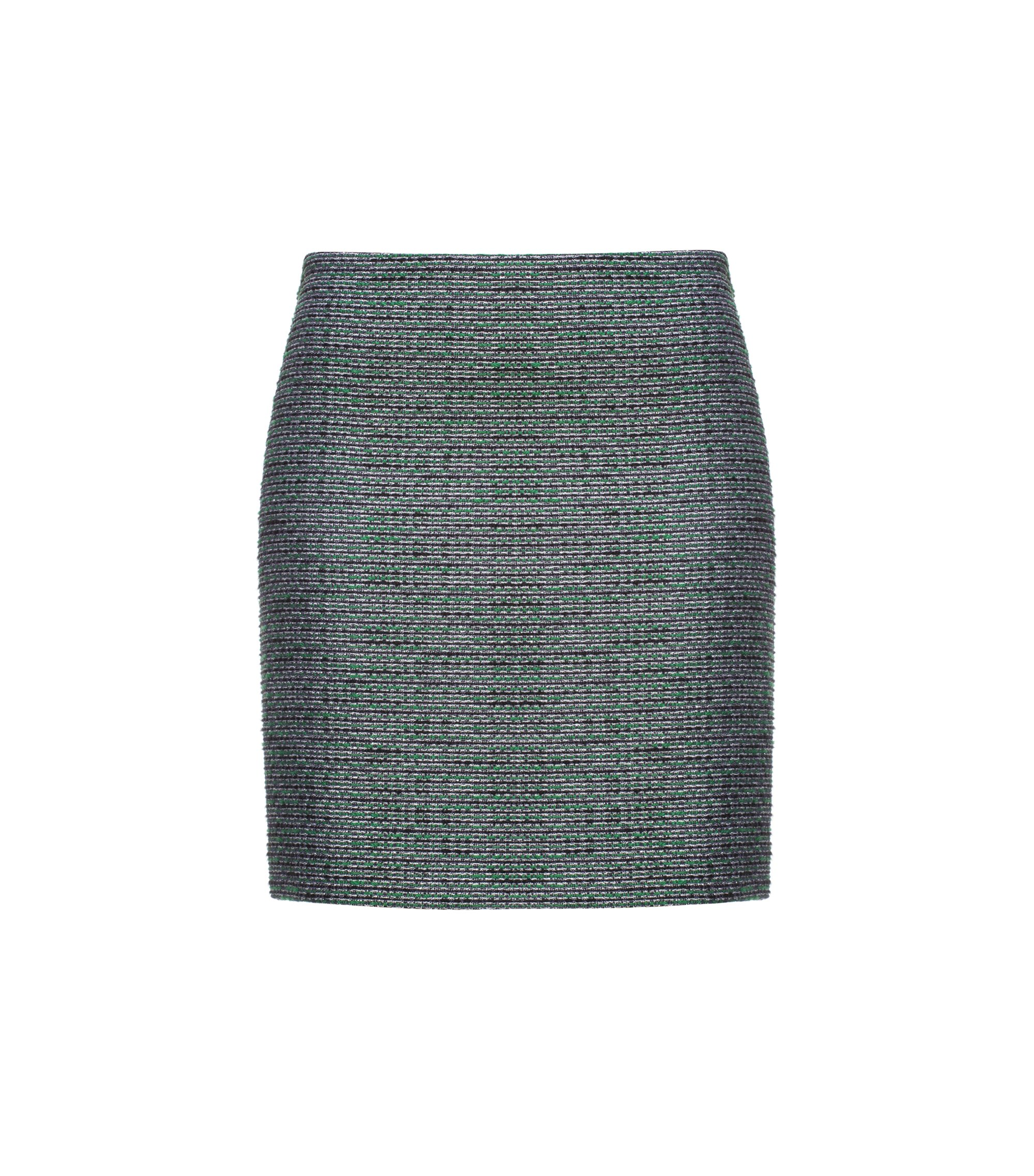 Patterned lurex mini skirt, Patterned