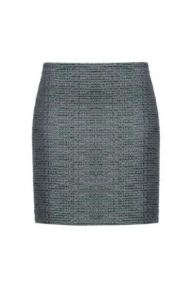 Patterned lurex mini skirt, A disegni