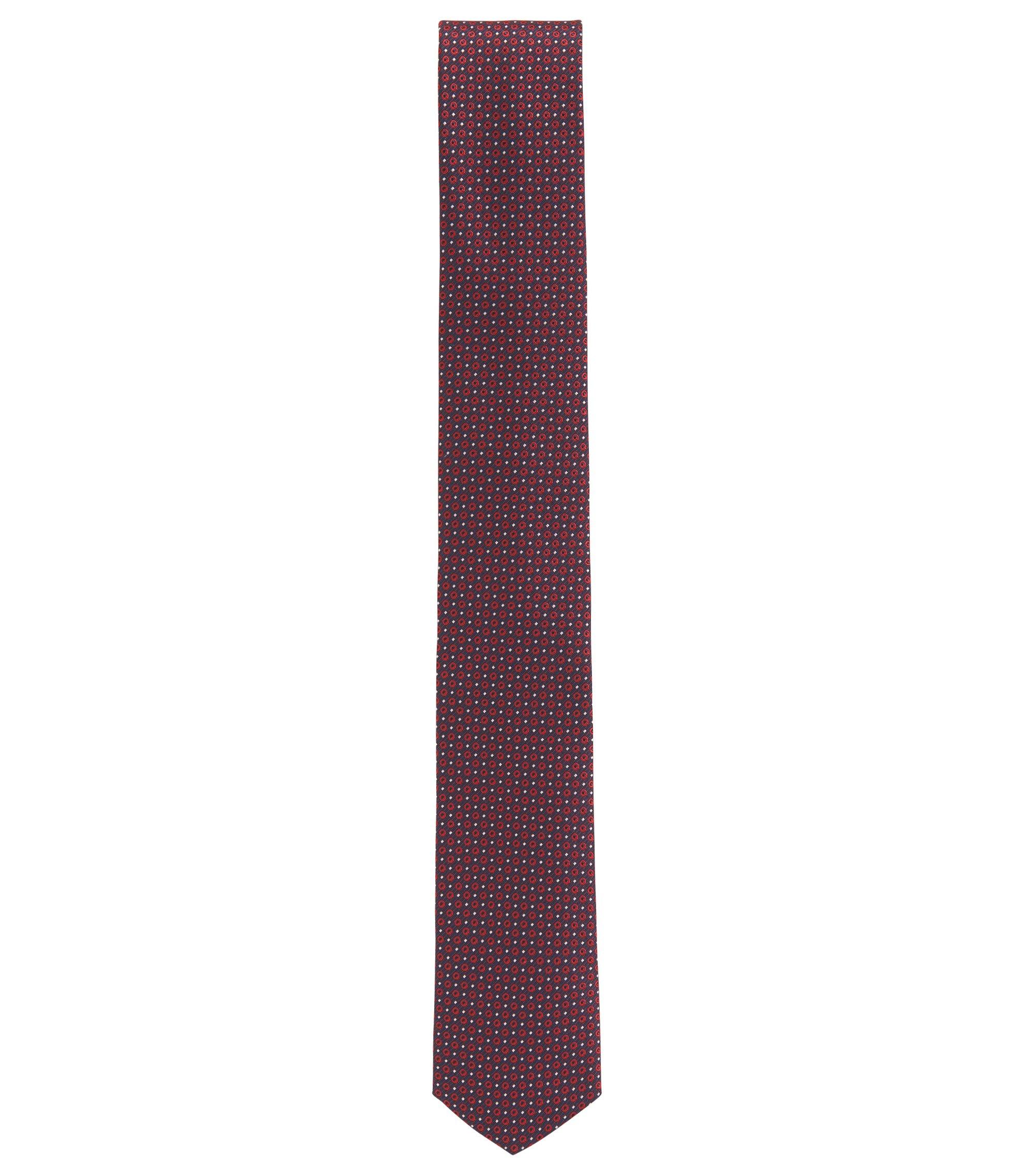 Travel Line Krawatte aus wasserabweisender Seide, Rot