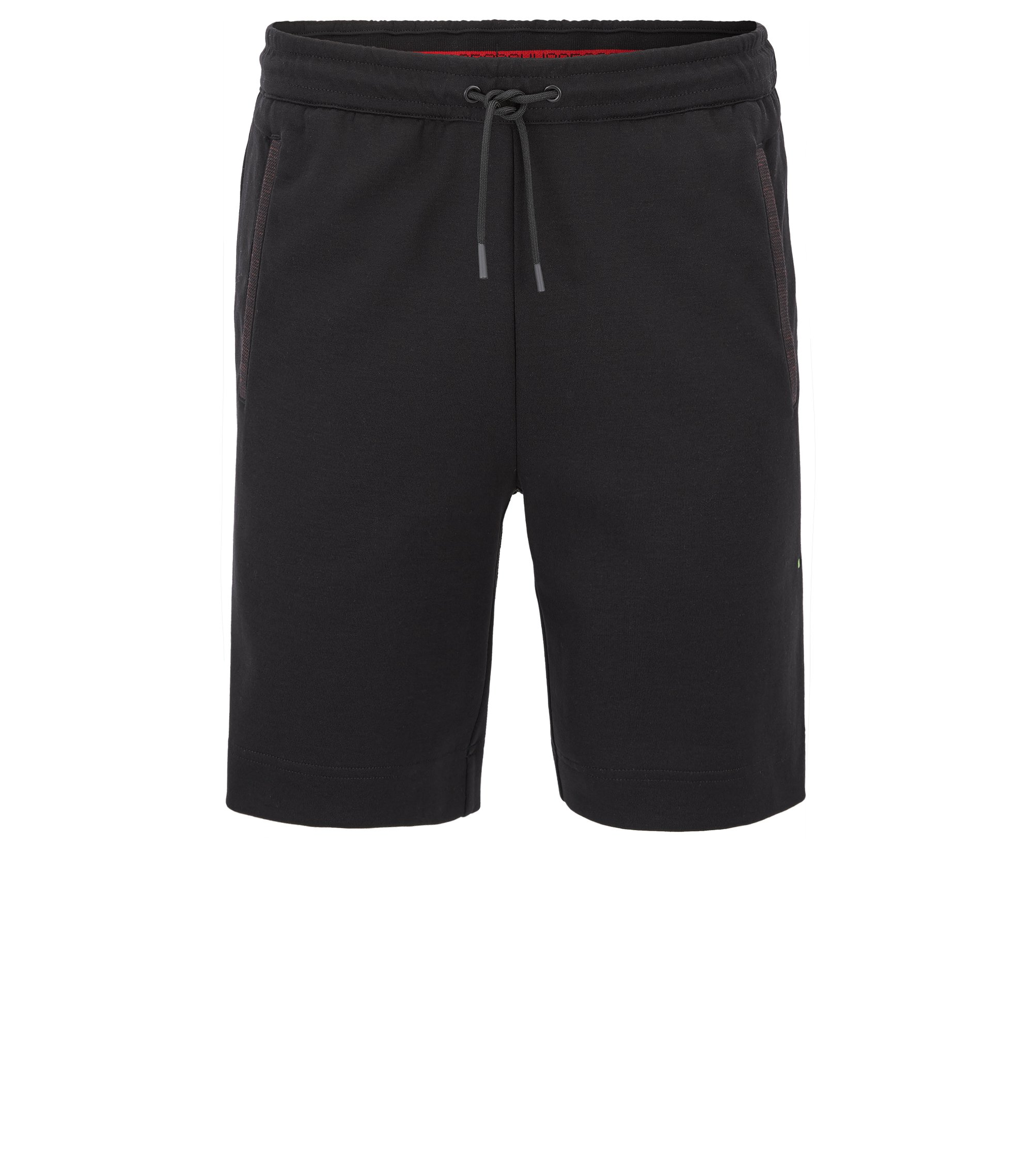 Jogging shorts in a cotton blend, Black