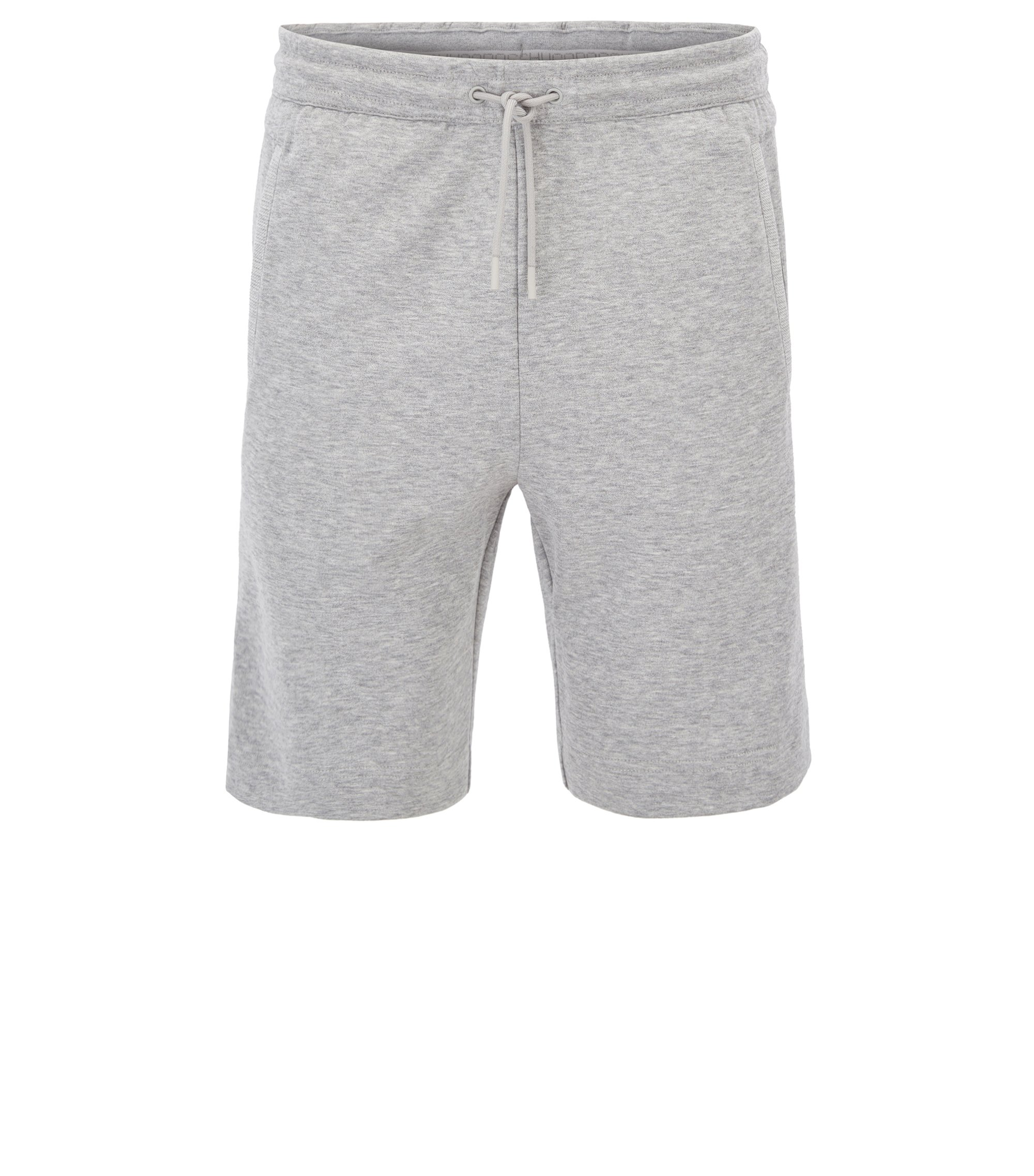 Jogging shorts in a cotton blend, Light Grey