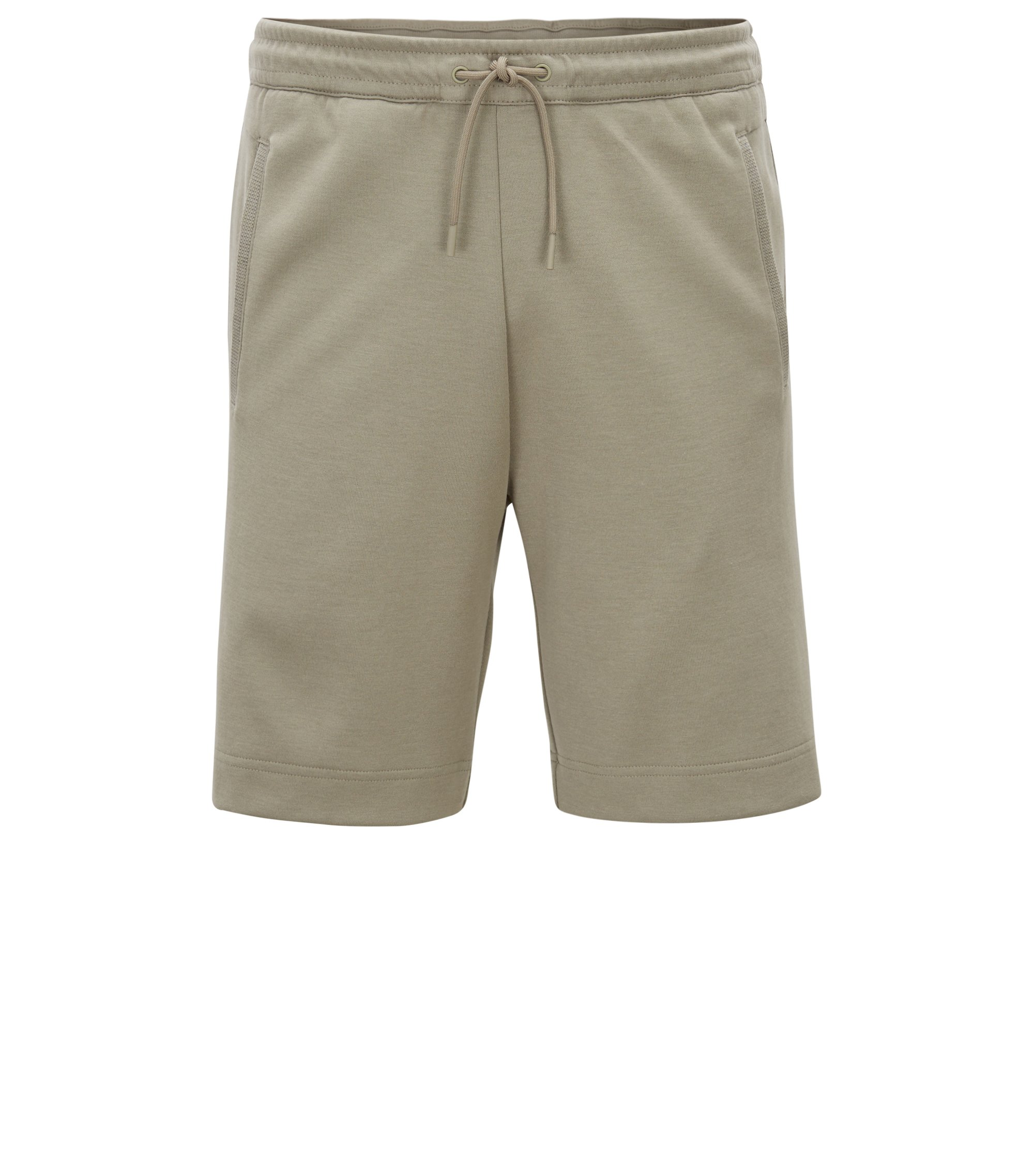 Jogging shorts in a cotton blend, Light Green
