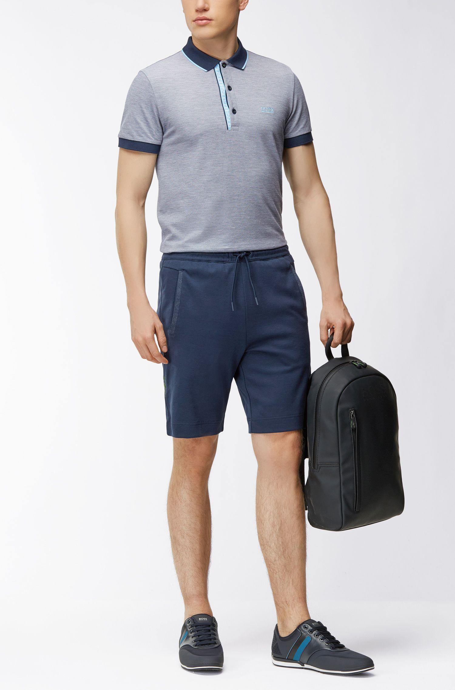 Short de jogging en coton mélangé