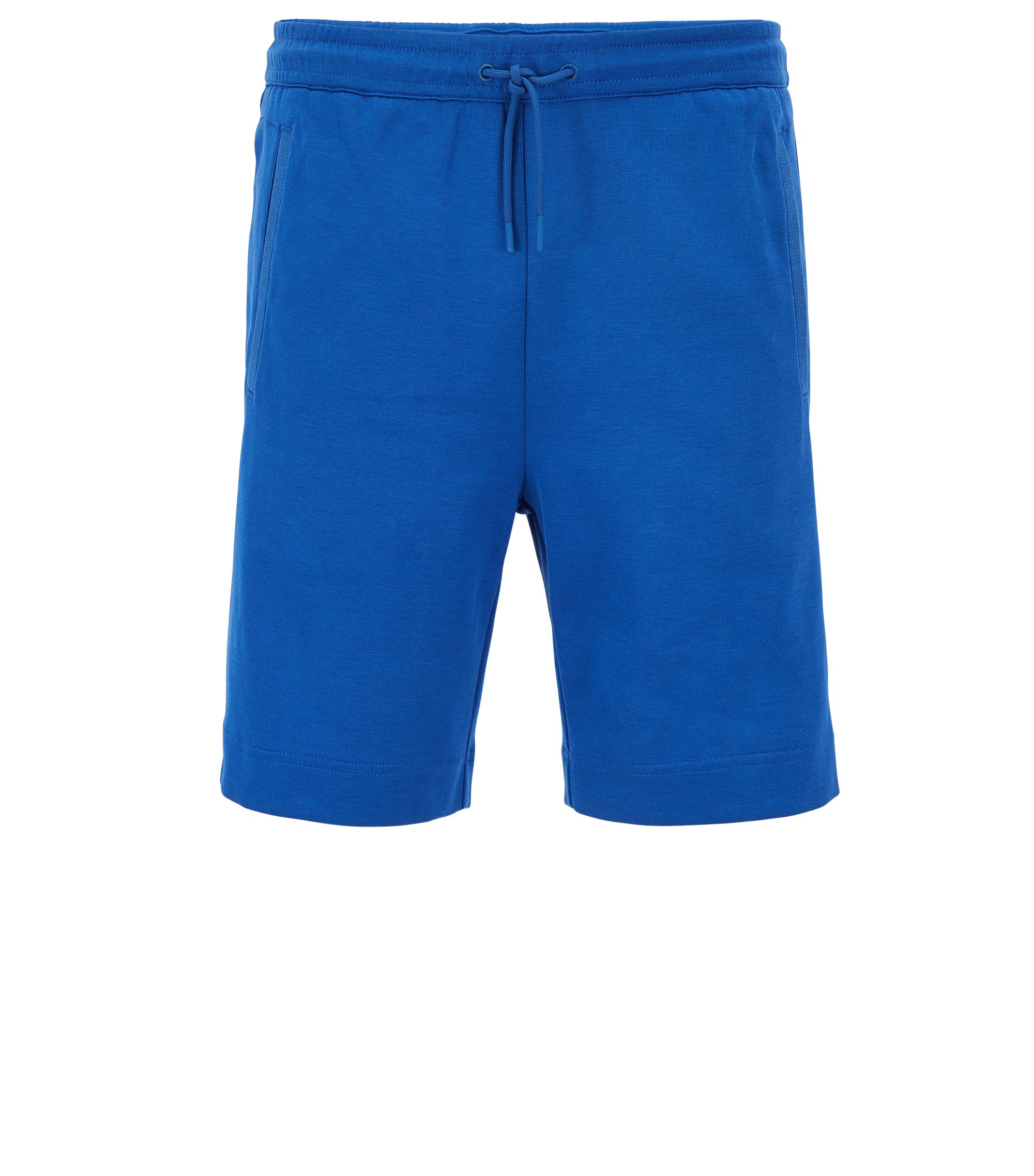 Jogging shorts in a cotton blend, Blue