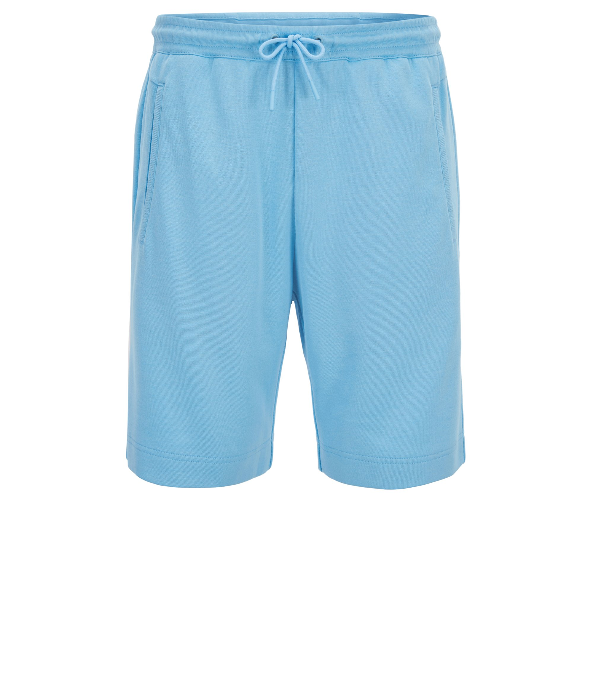 Jogging shorts in a cotton blend, Light Blue