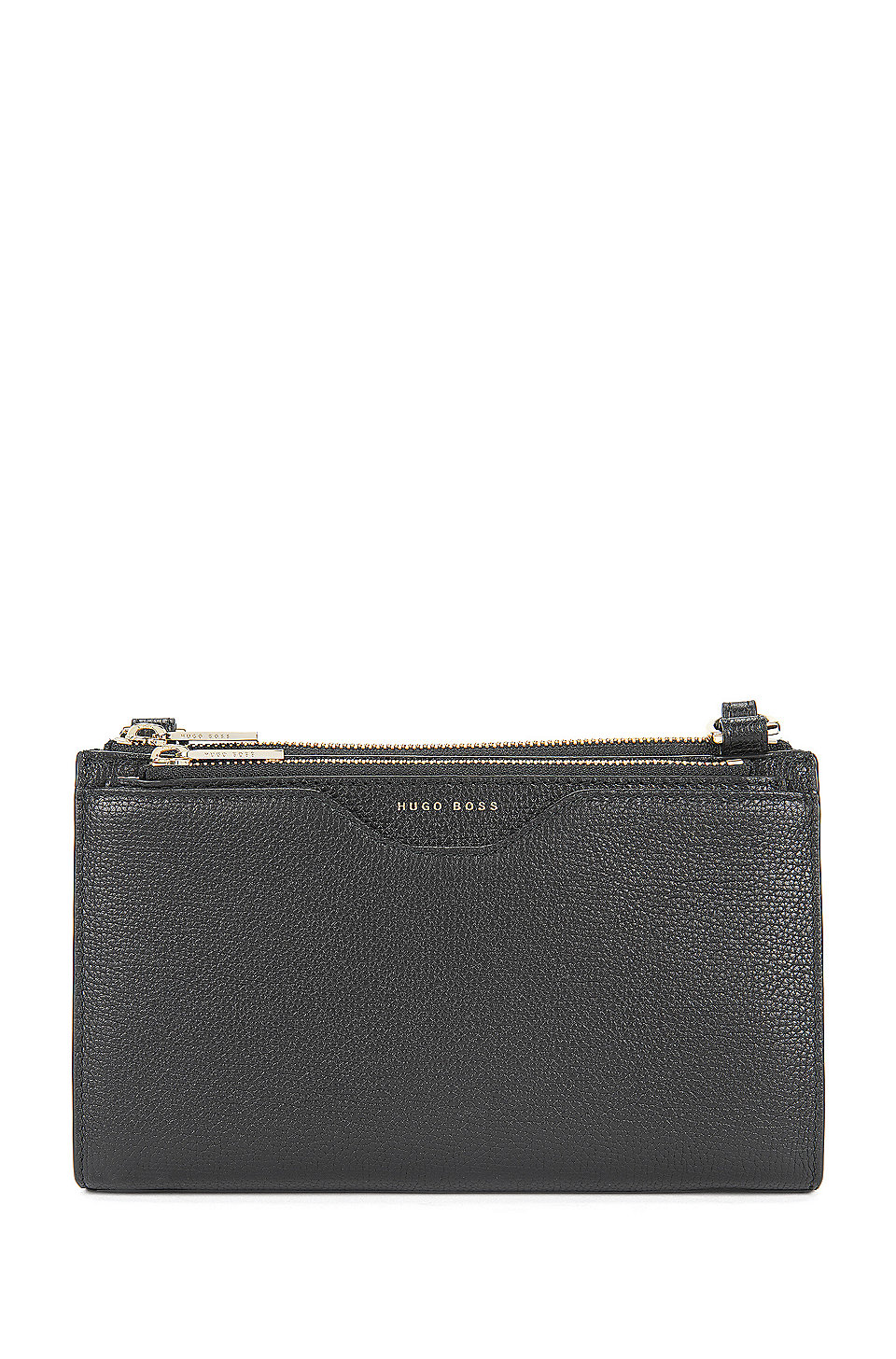 2df0a7dc62ef3 BOSS - Kompakte Tasche aus genarbtem italienischem Leder