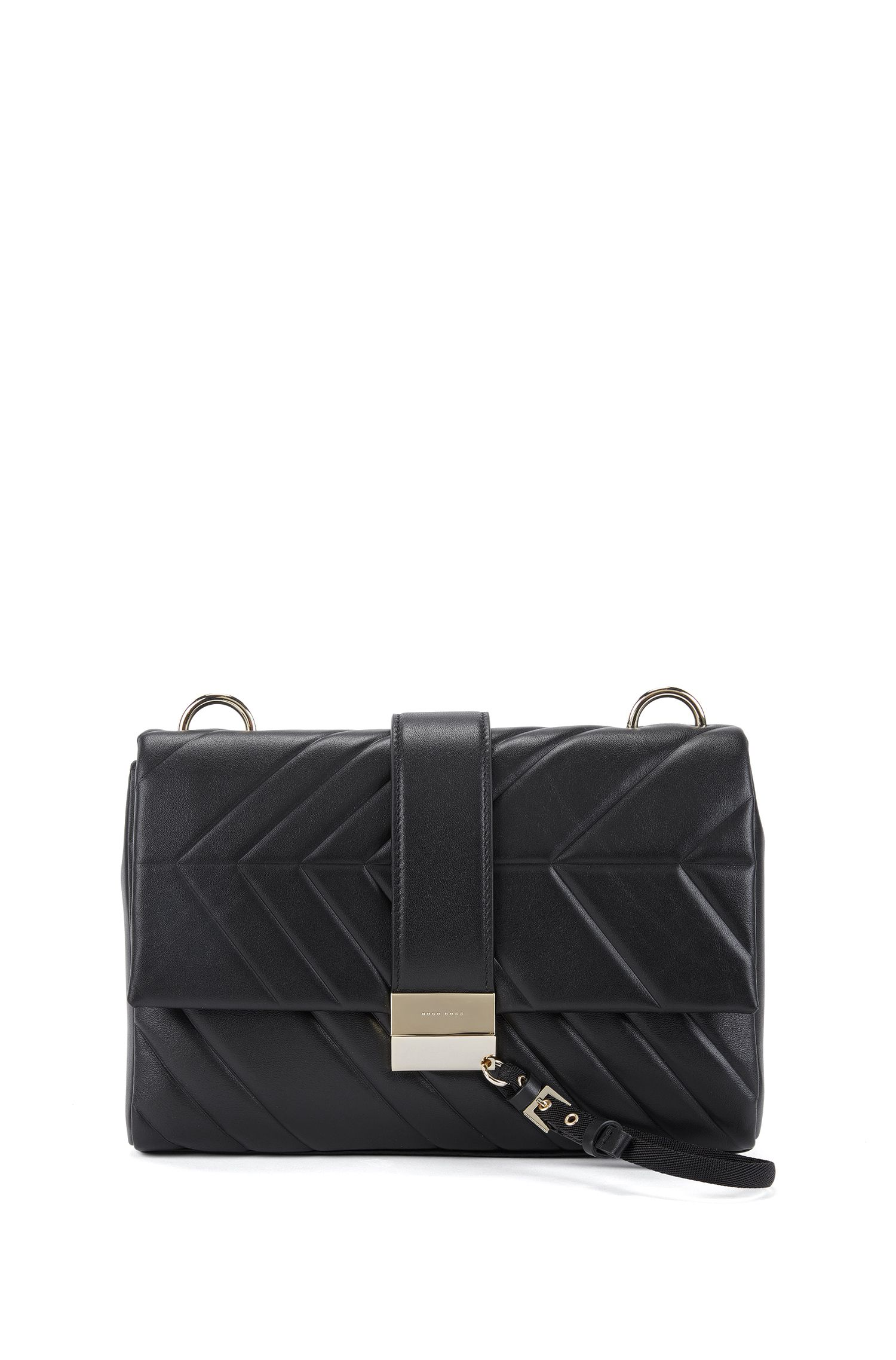 Shoulder bag in softly structured Italian leather