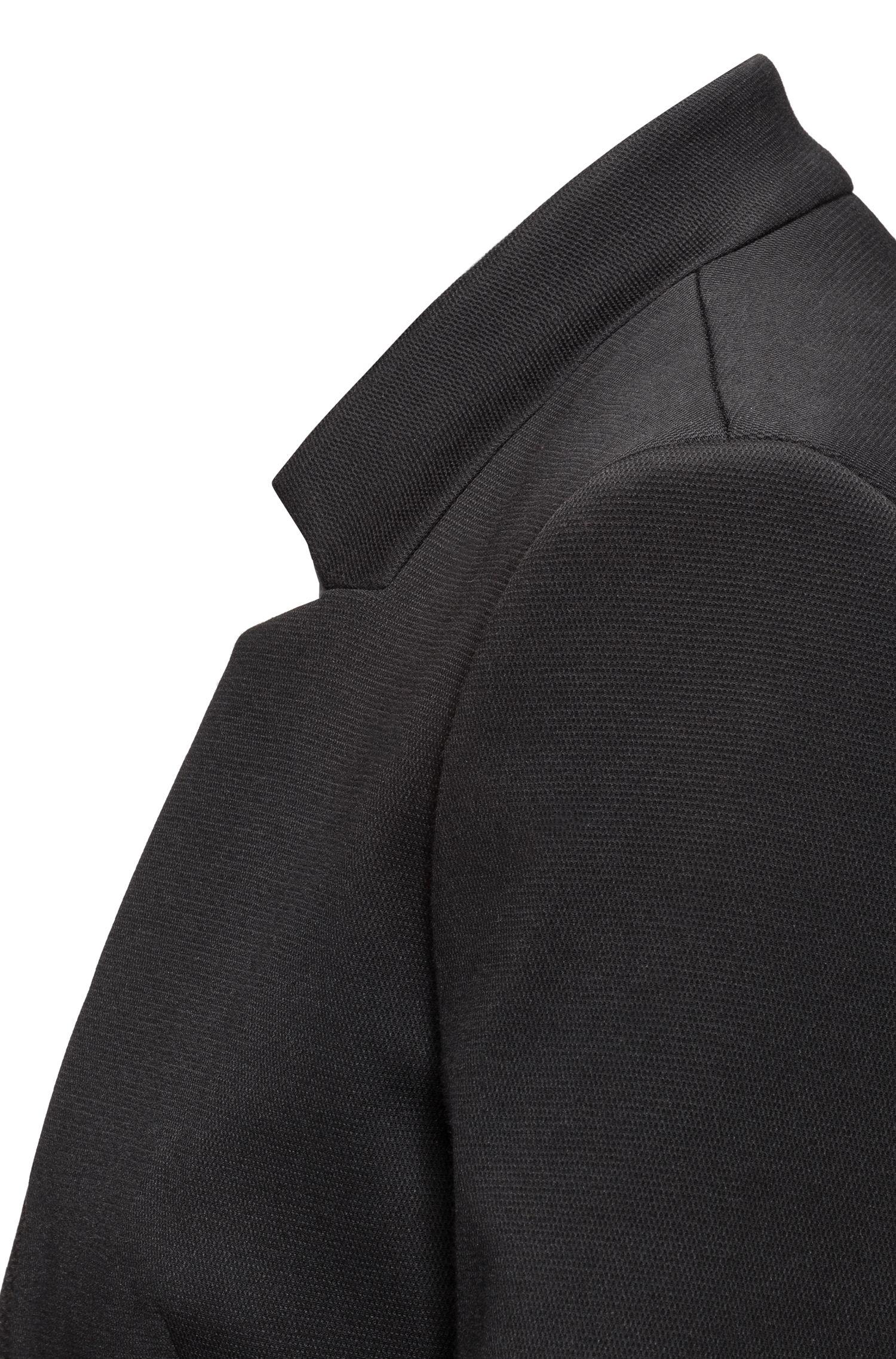 Regular-Fit Blazer aus elastischem Baumwoll-Mix mit Reißverschlusstaschen