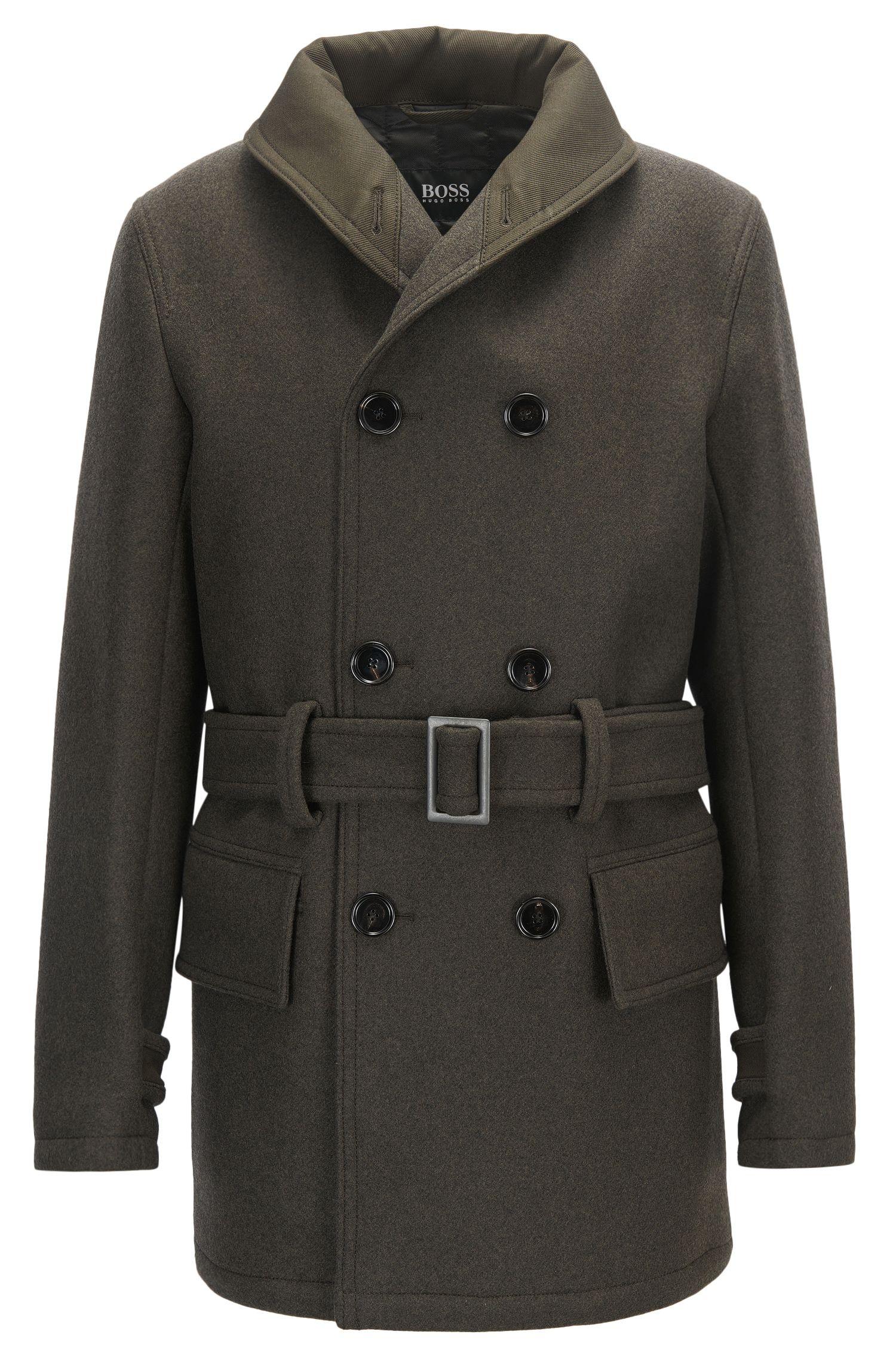 Manteau Oversized Fit en laine vierge mélangée