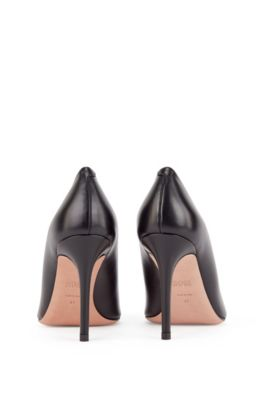 5f82b2d0d21 Pointed-toe court shoes in Italian leather