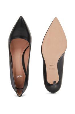 pas cher pour réduction courir chaussures mieux aimé Escarpins à bout pointu en cuir italien