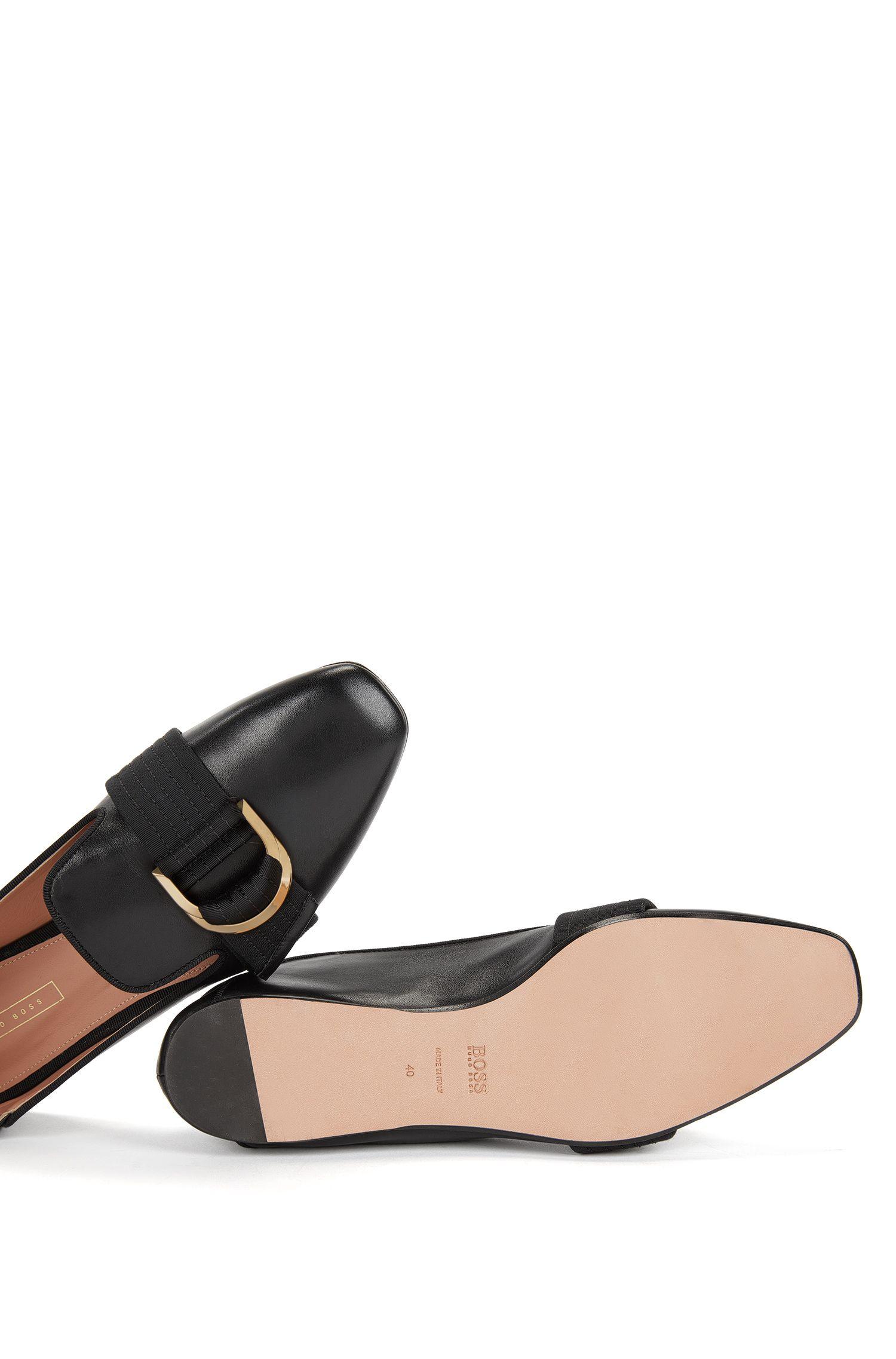 Mocassins en cuir avec garniture à deux anneaux