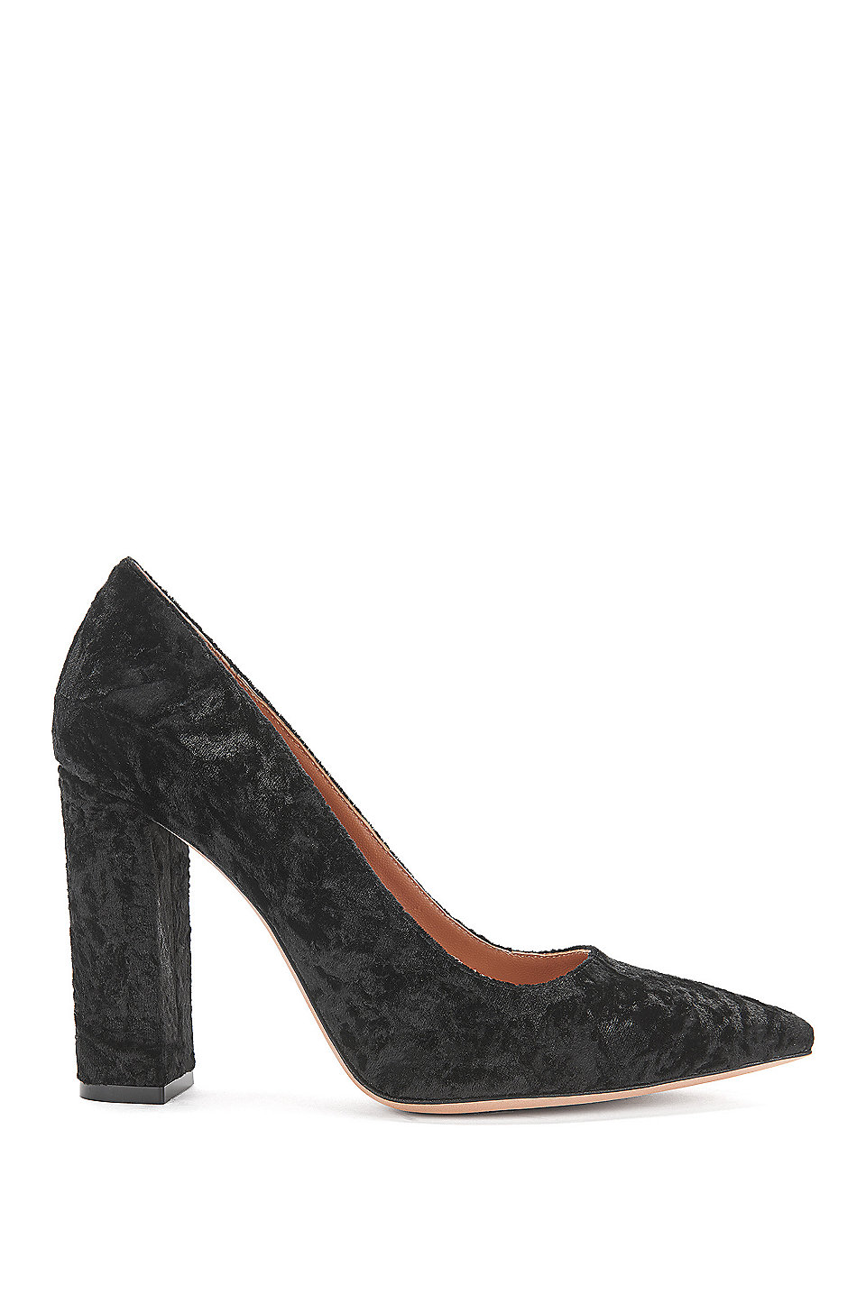 Hugo BOSS Tacco Alto Nero Businesslook da donna tg. de 38 PELLE PUMPS