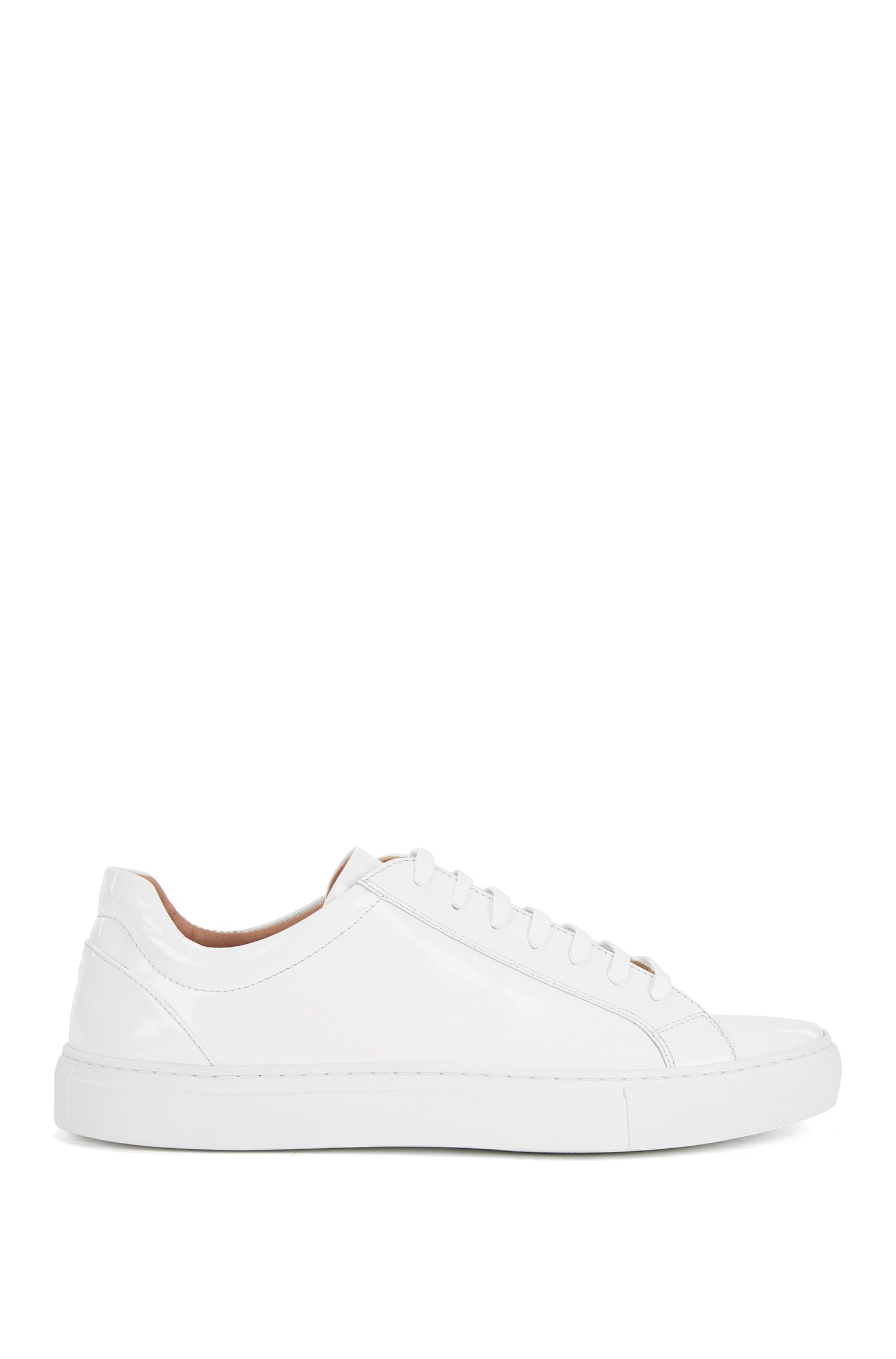 Sneakers low-top in pelle spazzolata