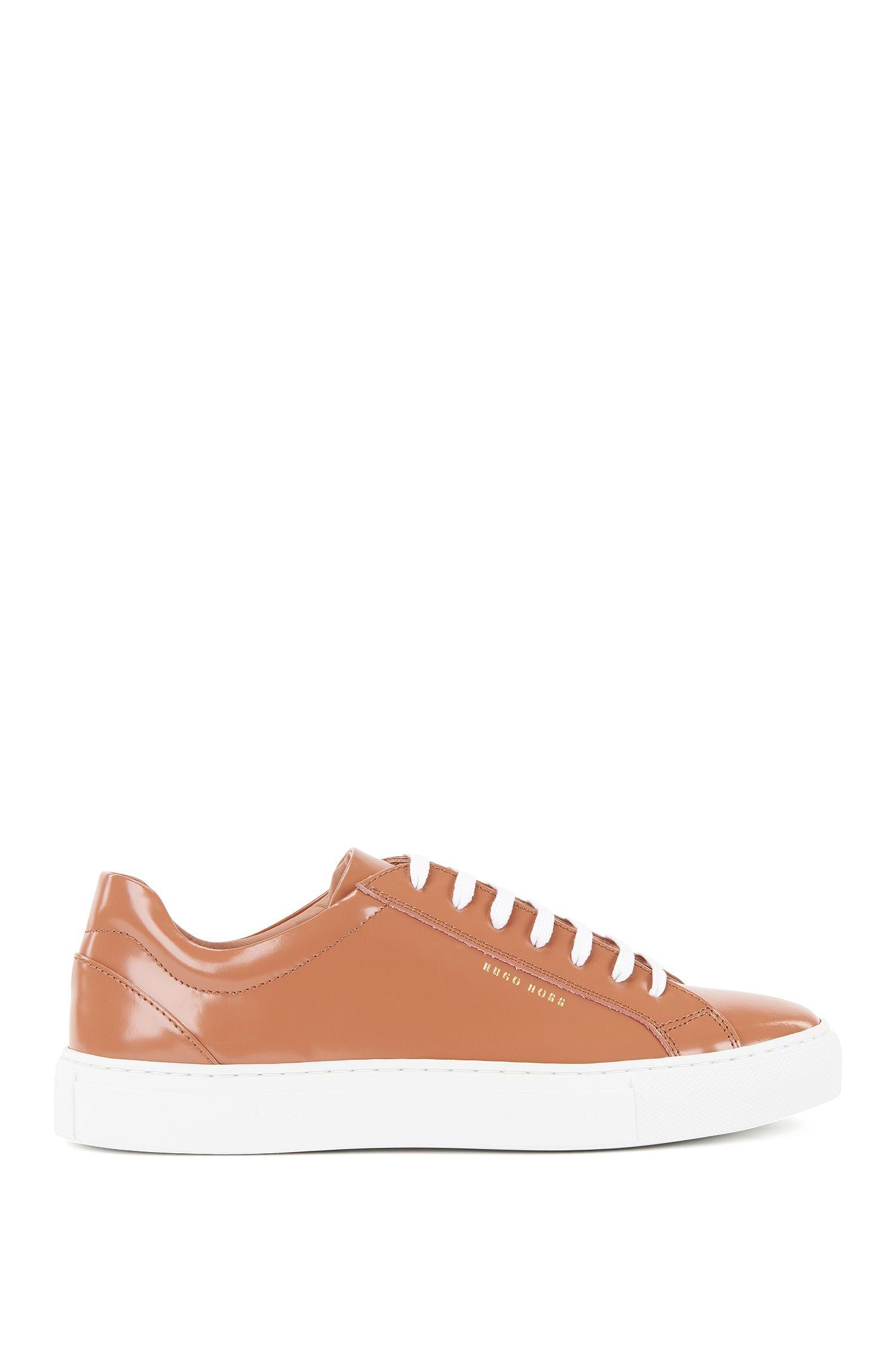 Sneakers low-top in pelle spazzolata