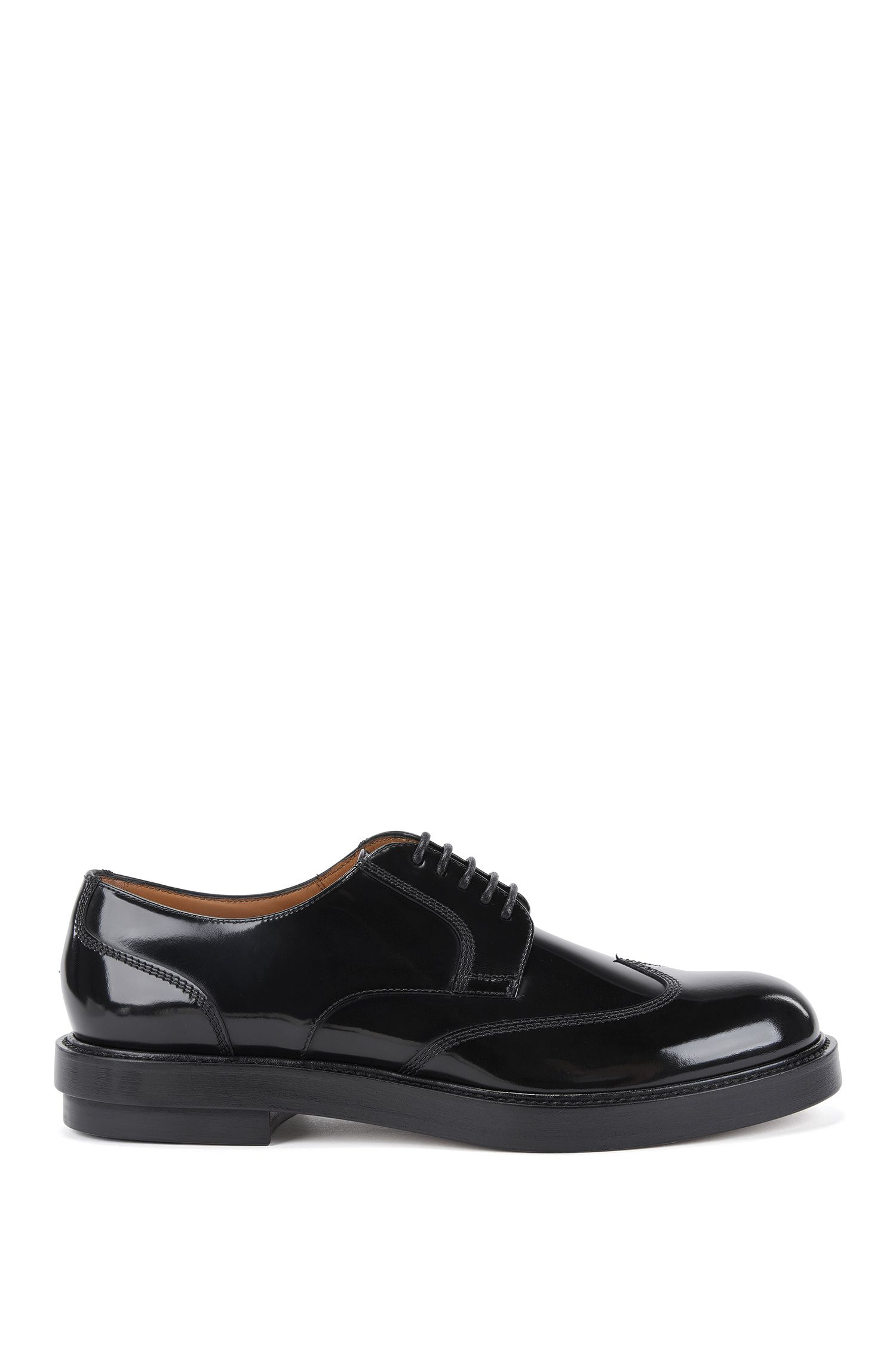 Chaussures derby Richelieu en cuir brossé