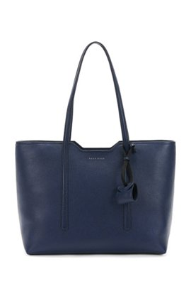 Per Bag In Italian Leather Blue