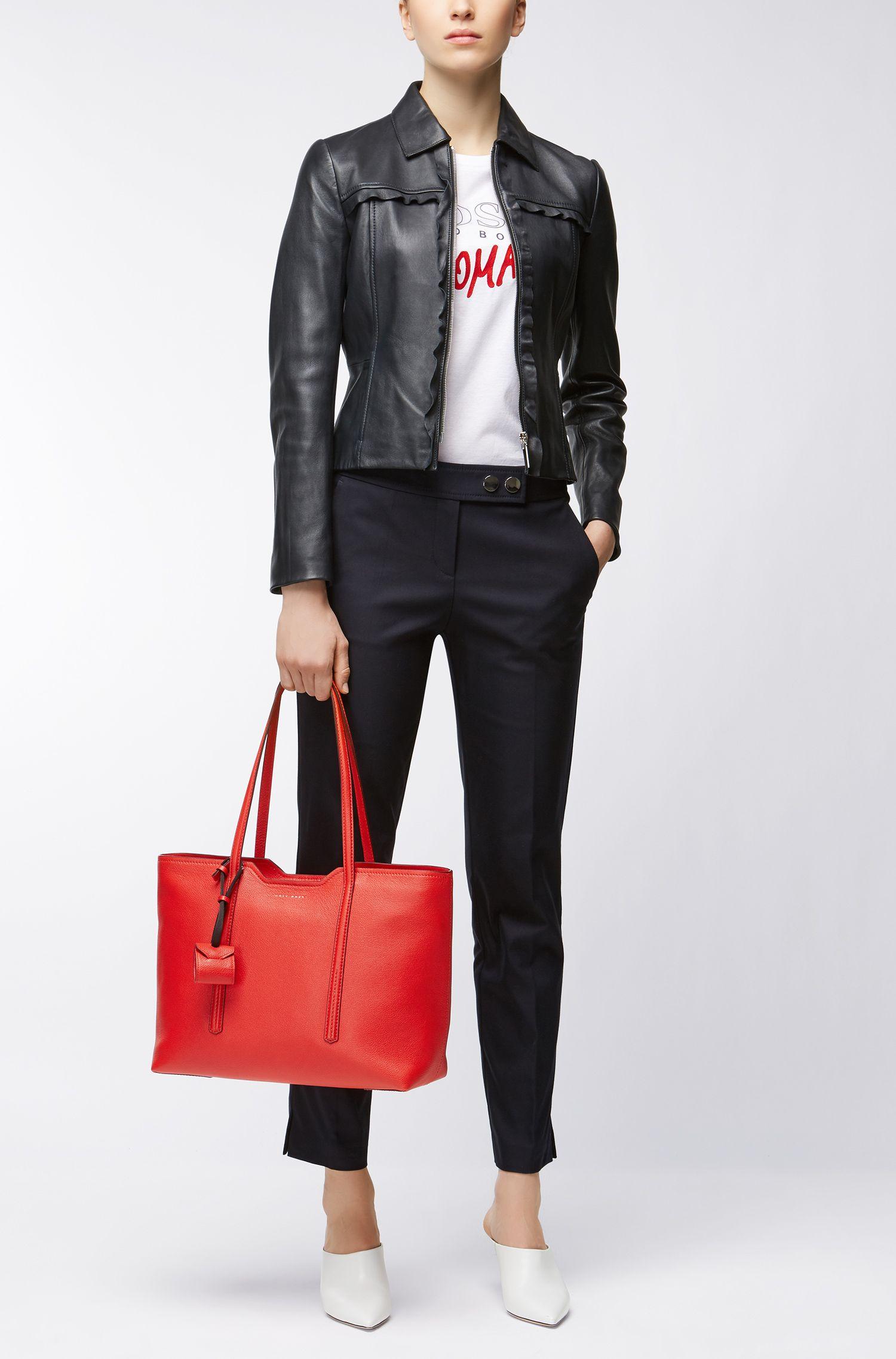 Shopper aus italienischem Leder