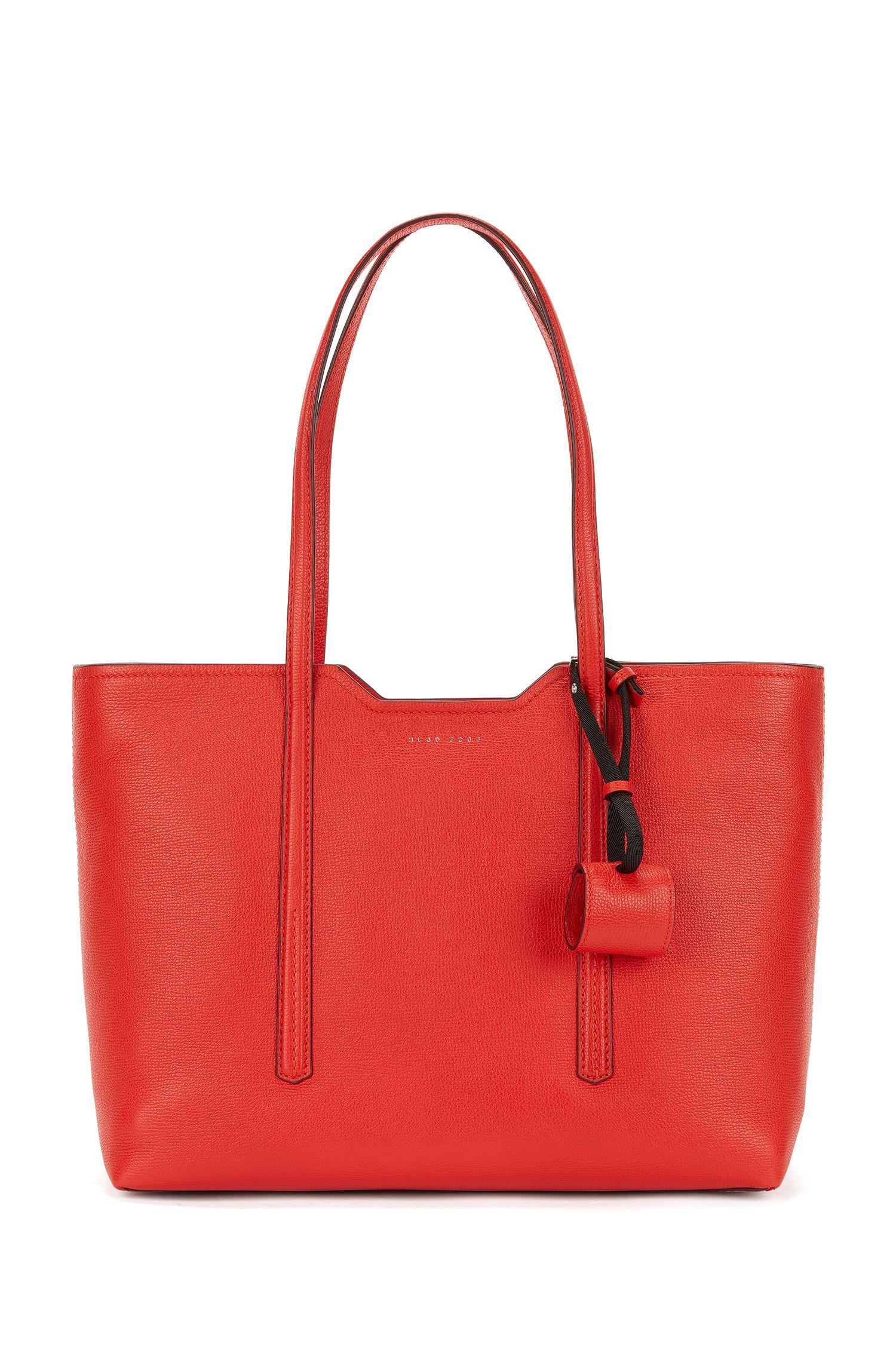 Shopper bag in Italian leather