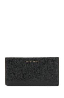 Palm-leaf print wallet in Italian calf leather BOSS rvpA6AQ2sR