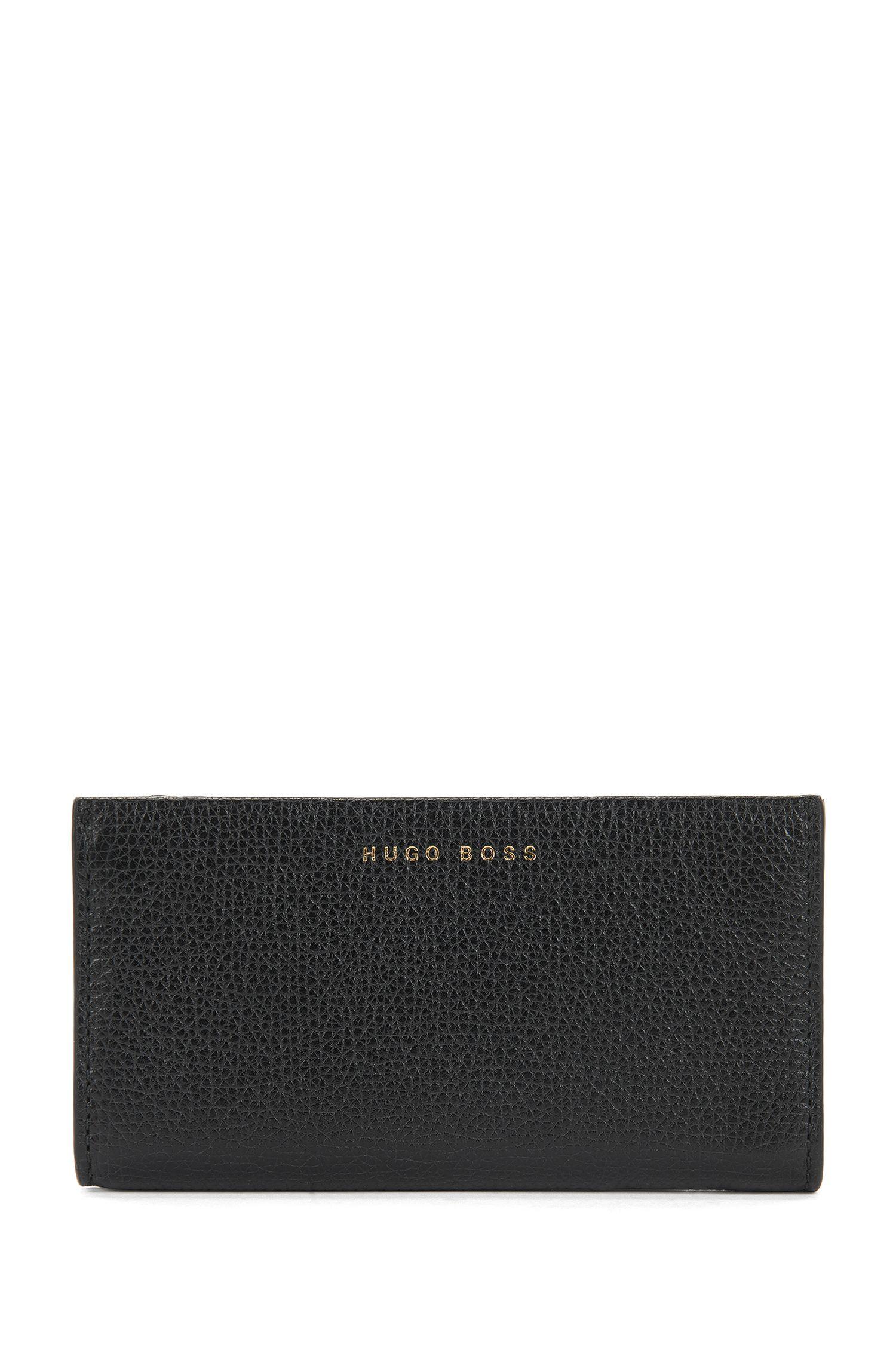 Key holder in grained Italian leather