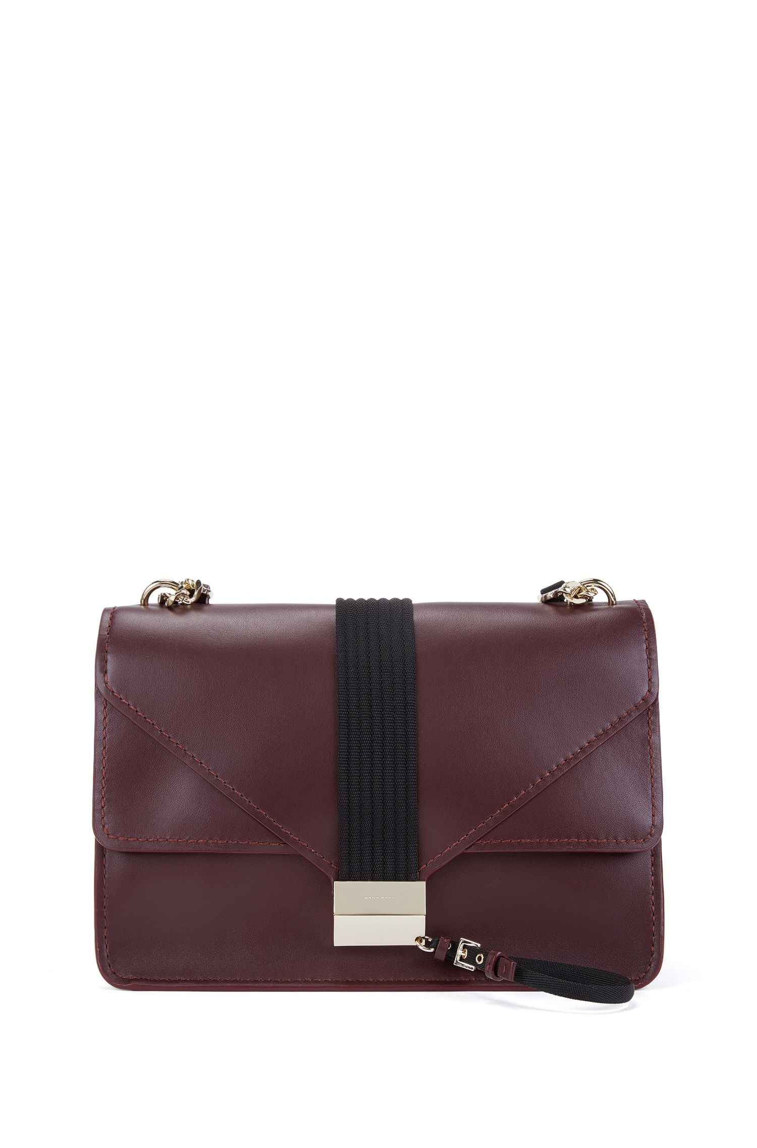 Shoulder bag in smooth Italian leather
